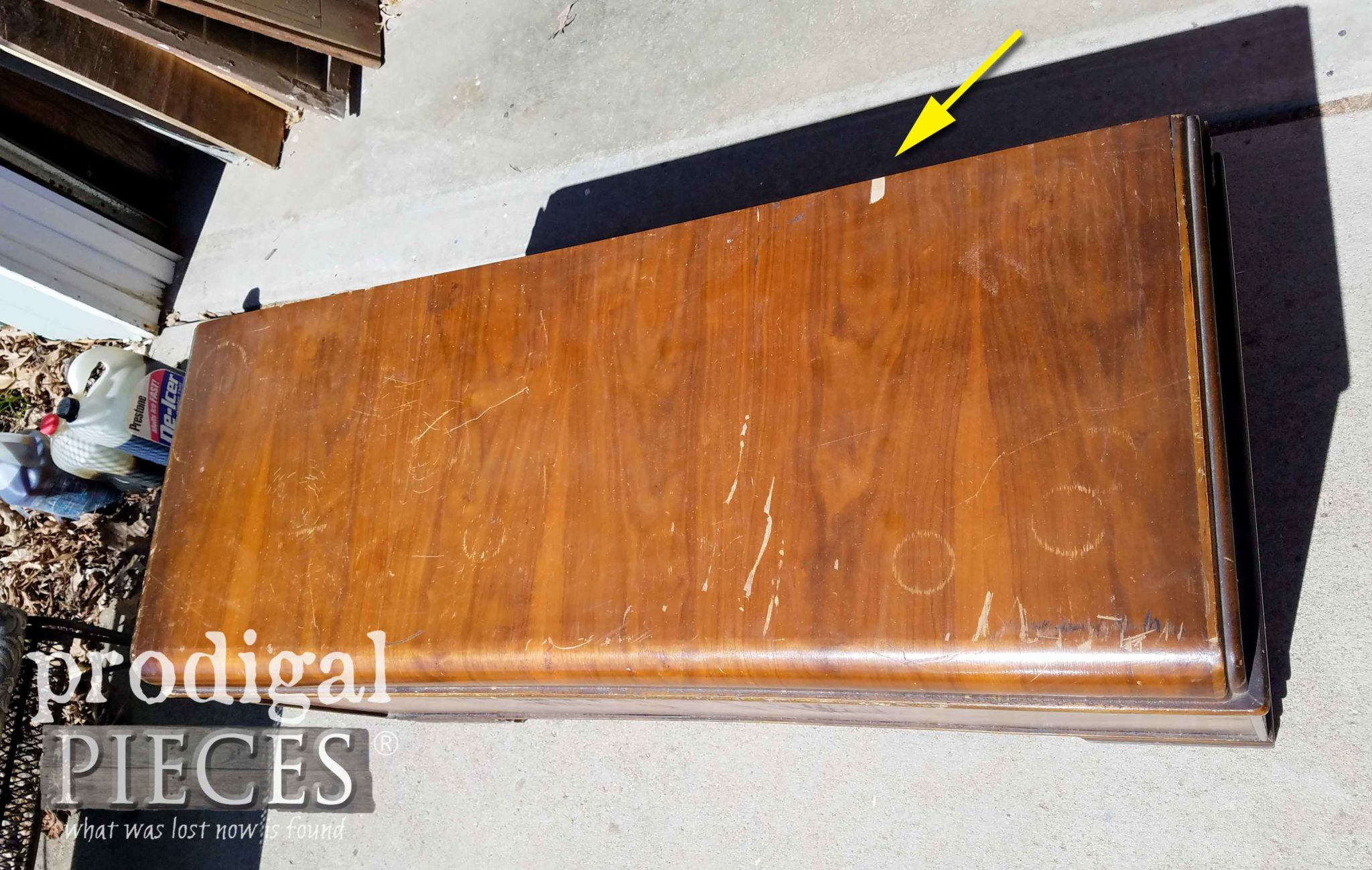 Vintage Waterfall Hope Chest Damage | prodigalpieces.com