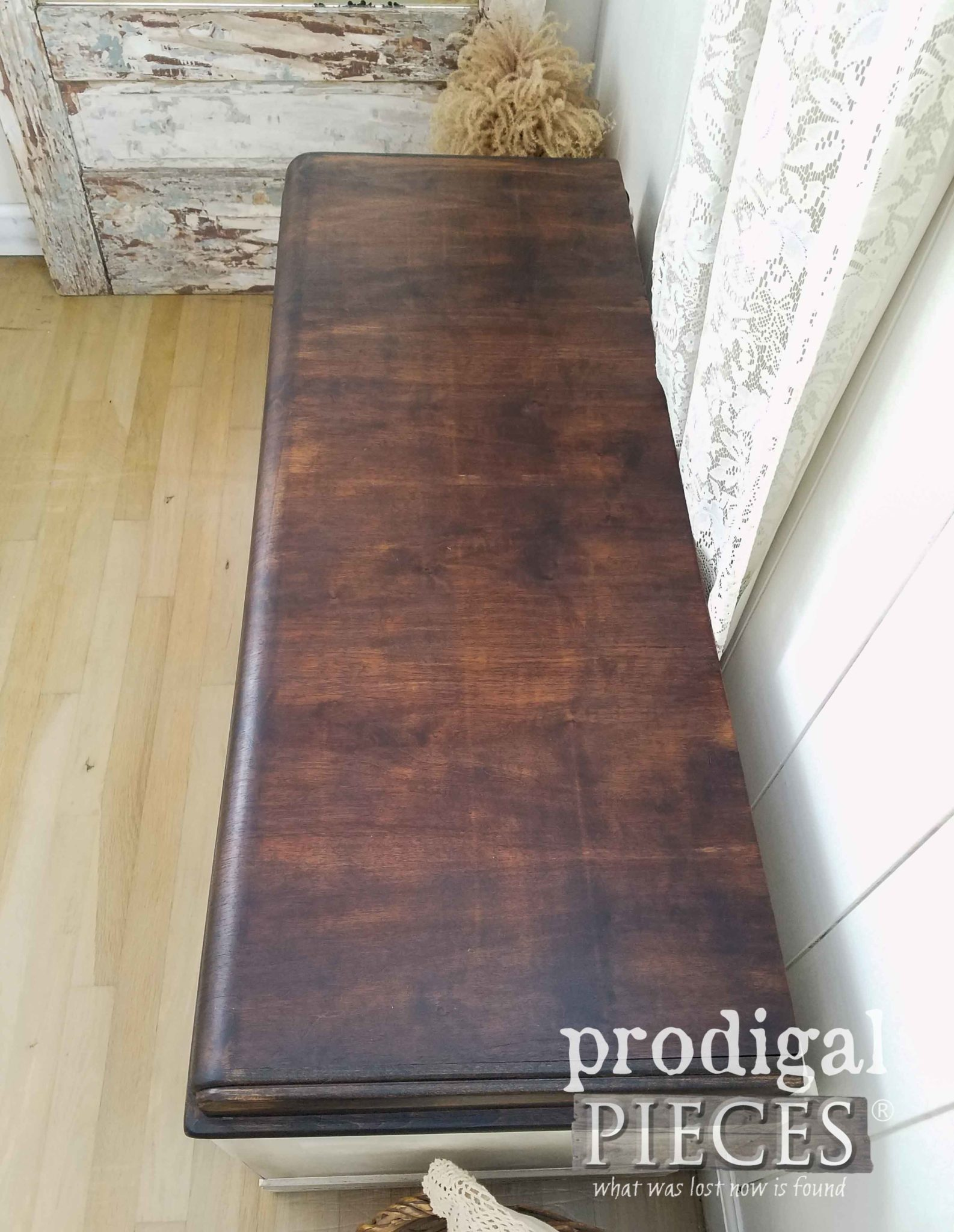 Hope Chest Top Stained in Espresso Stain by Prodigal Pieces | prodigalpieces.com