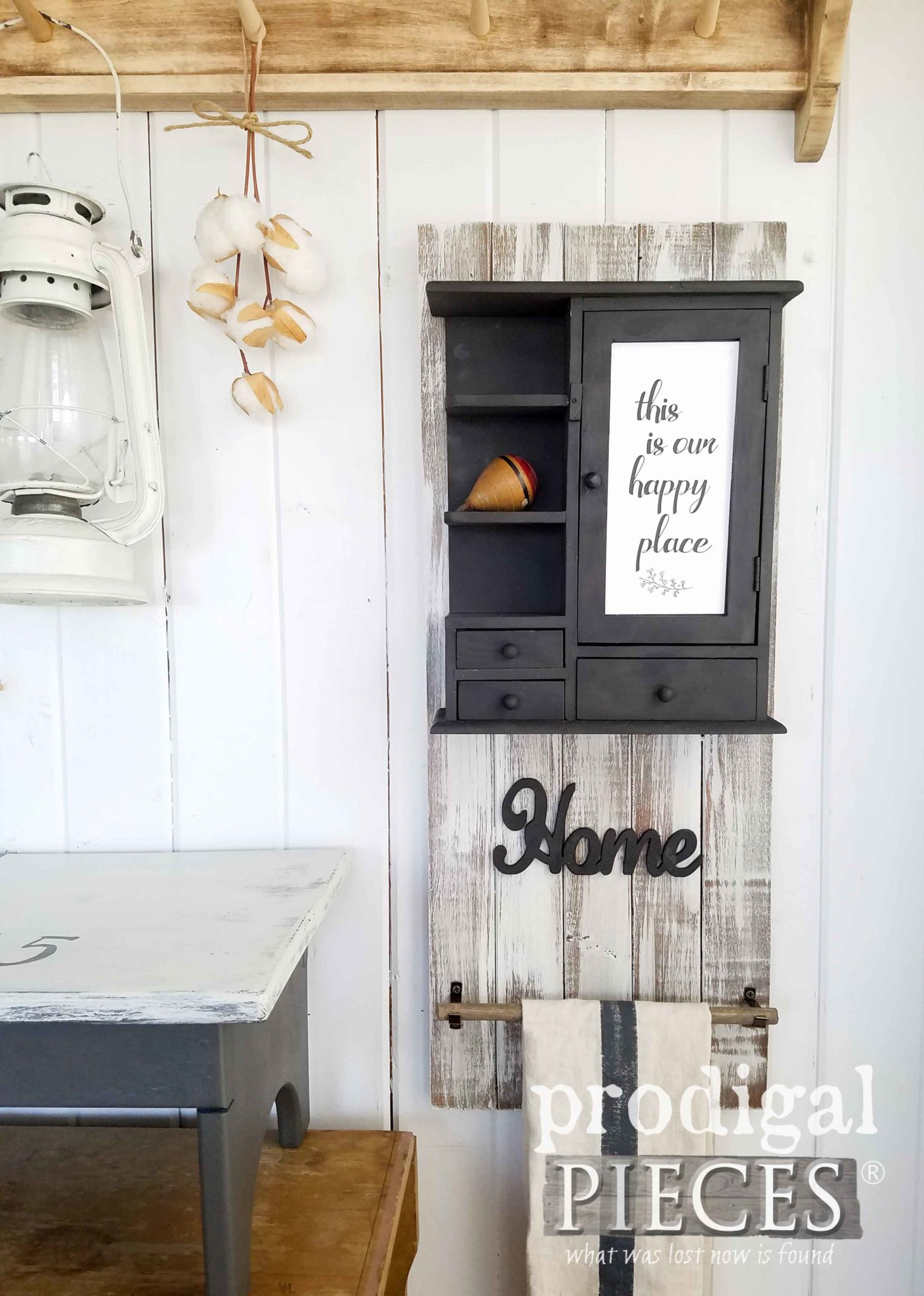 Modern Farmhouse Decor from Upcycled Thrift Store Finds by Larissa of Prodigal Pieces | prodigalpieces.com