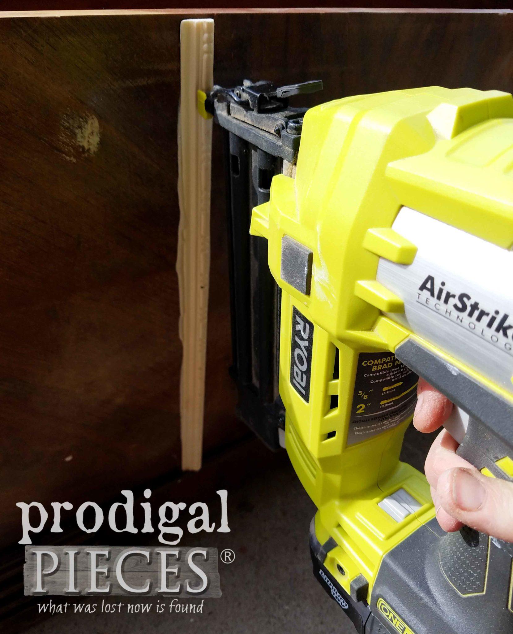 Ryobi AirStrike Brad Nailer for Hope Chest repairs | prodigalpieces.com