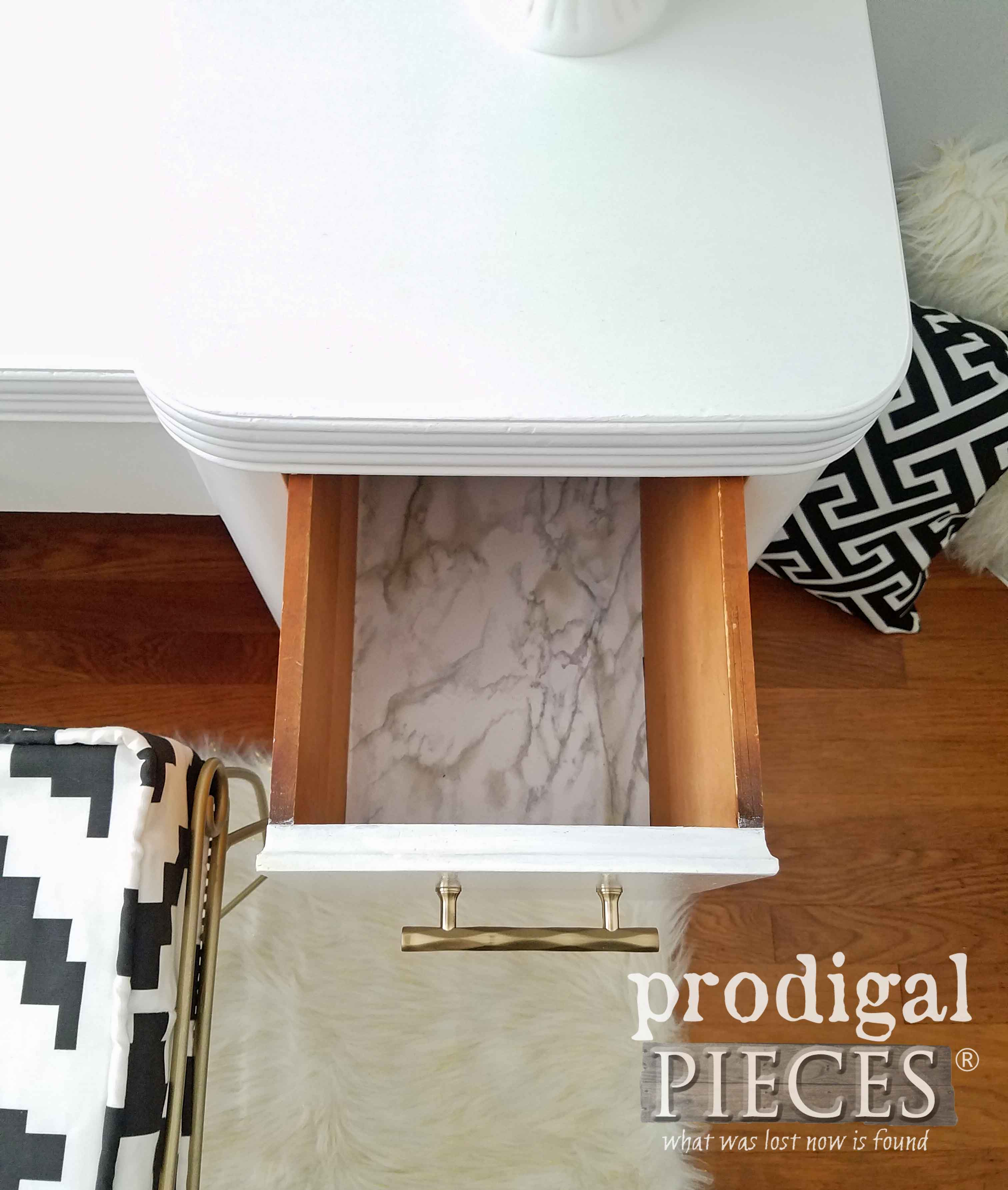 Paper Lined Vanity Drawers | prodigalpieces.com