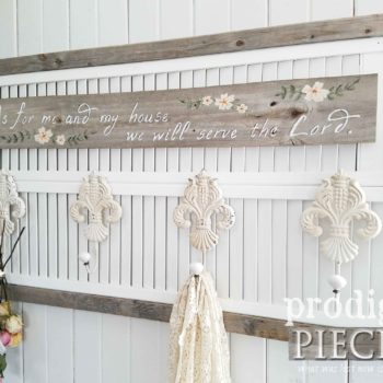 Repurposed Coat Rack Made of Louver Doors and Reclaimed Wood by Larissa of Prodigal Pieces | prodigalpieces.com