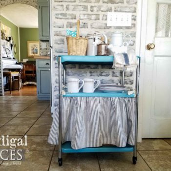 Restored Cosco Serving Cart with DIY Dust Ruffle by Larissa of Prodigal Pieces | prodigalpieces.com