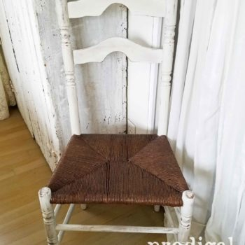 Antique Farmhouse Chair with Rush Seat Repaired and Updated by Larissa of Prodigal Pieces | prodigalpieces.com