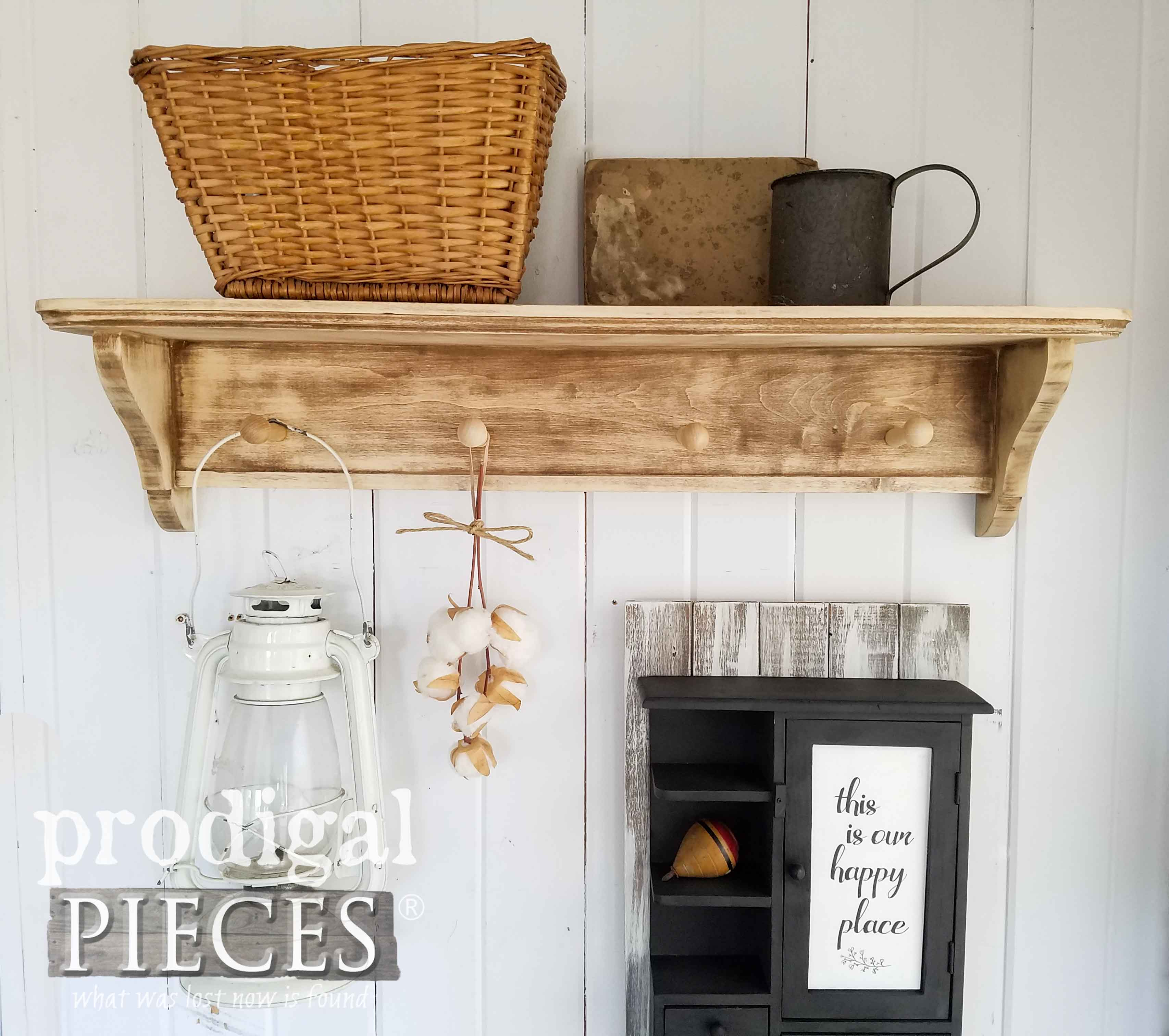 Rustic Chic Farmhouse Coat Rack by Larissa of Prodigal Pieces | prodigalpieces.com