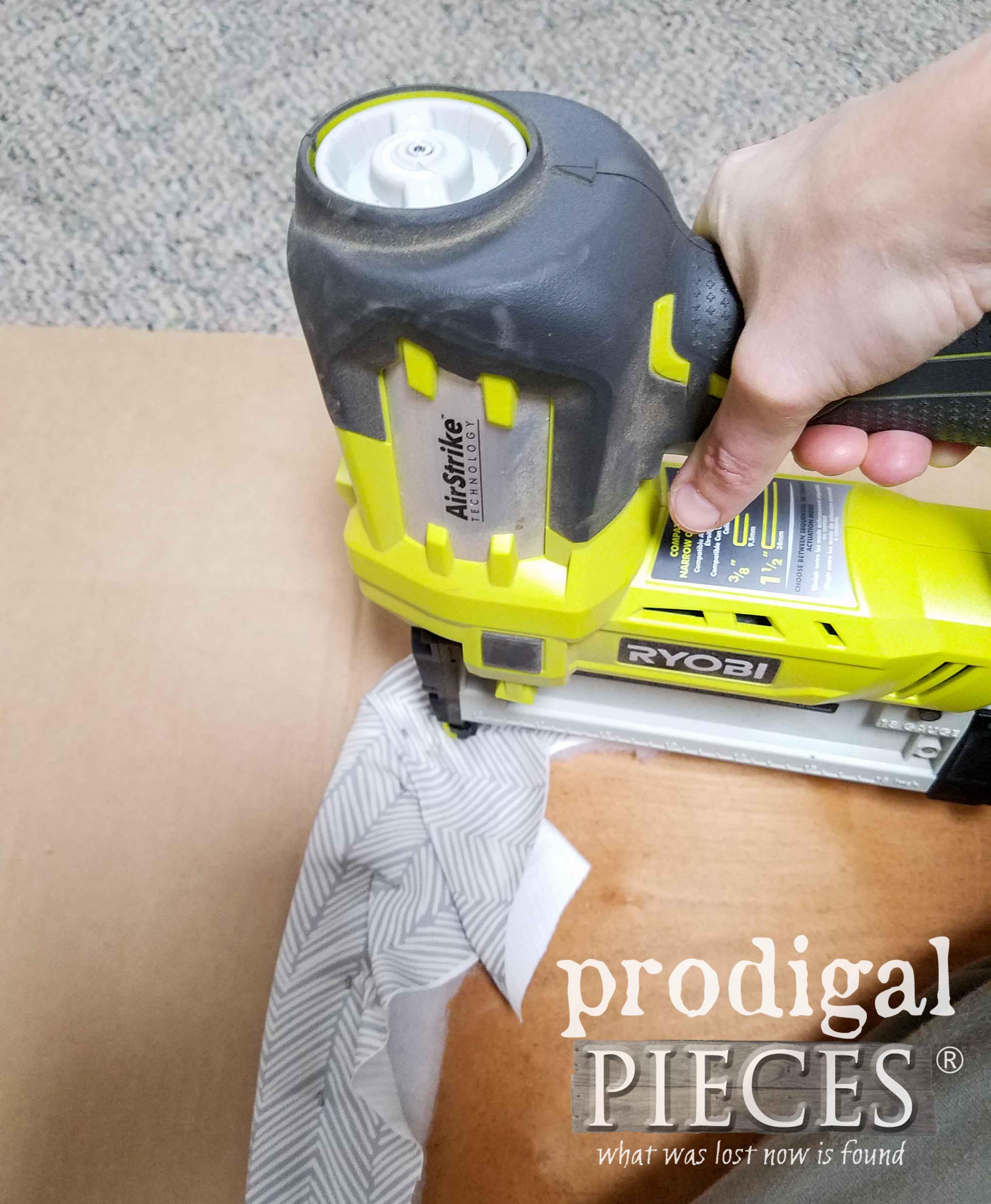 Ryobi AirStrike Stapler for Upholstery | prodigalpieces.com