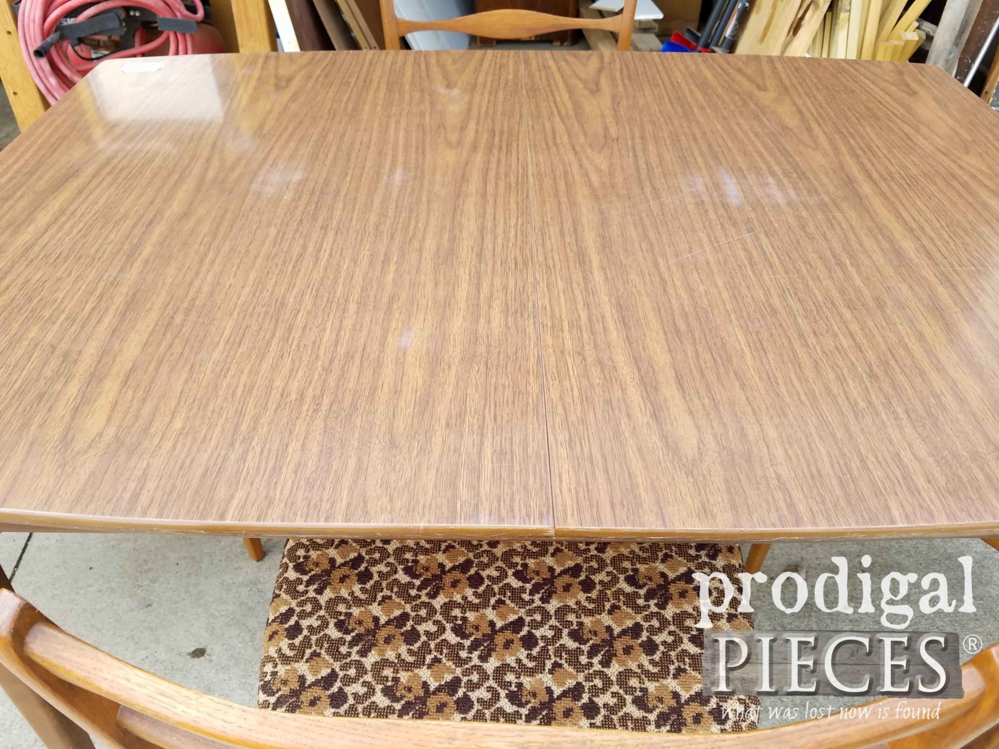 Mid Century Laminate Table Top Before | prodigalpieces.com