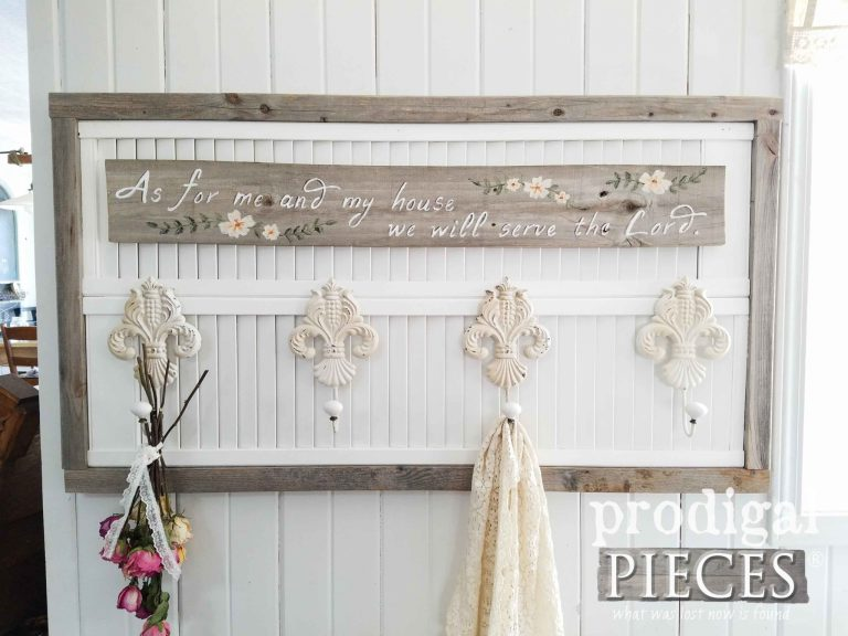 Rustic Chic Louver Coat Towel Rack by Larissa of Prodigal Pieces | Available at prodigalpieces.com