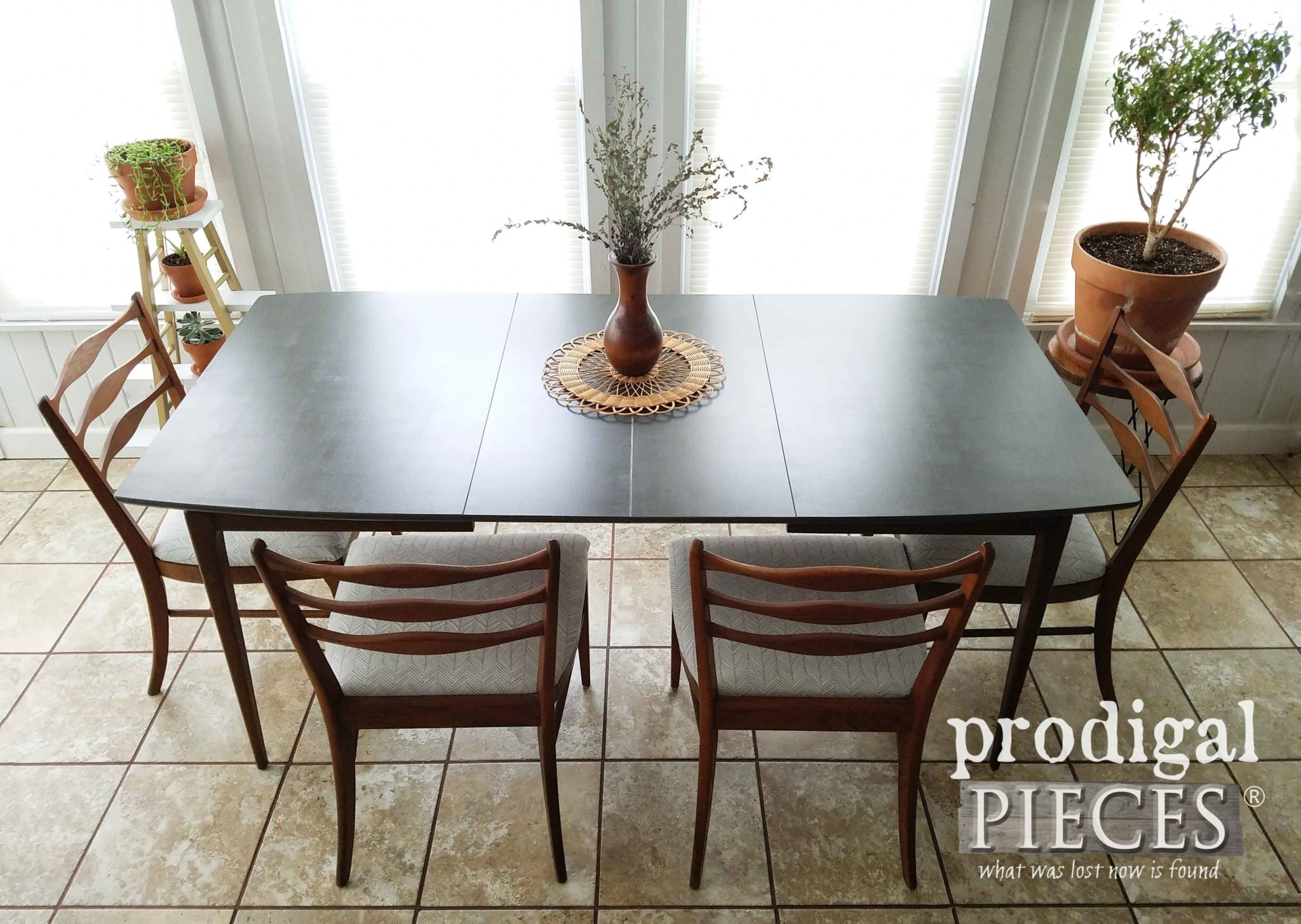Beautiful Vintage Mid Century Modern Dining Table with Extensions by Larissa of Prodigal Pieces | prodigalpieces.com