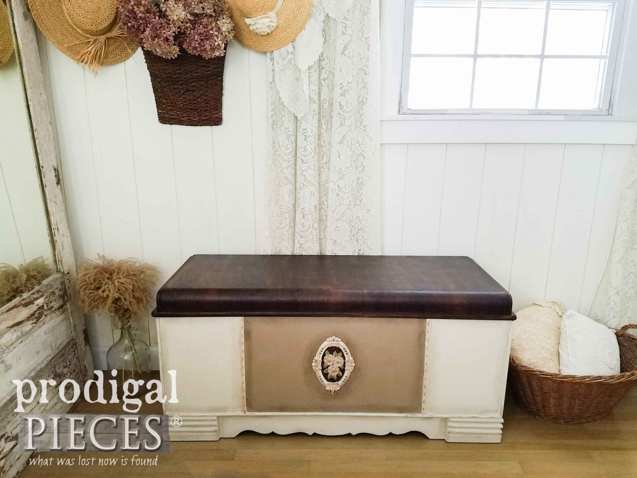 Vintage Waterfall Hope Chest Made New by Larissa of Prodigal Pieces using Dixie Belle Paint Products | prodigalpieces.com