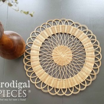 Natural Wicker Mandala Trivet Placemat | Available at Prodigal Pieces | prodigalpieces.com