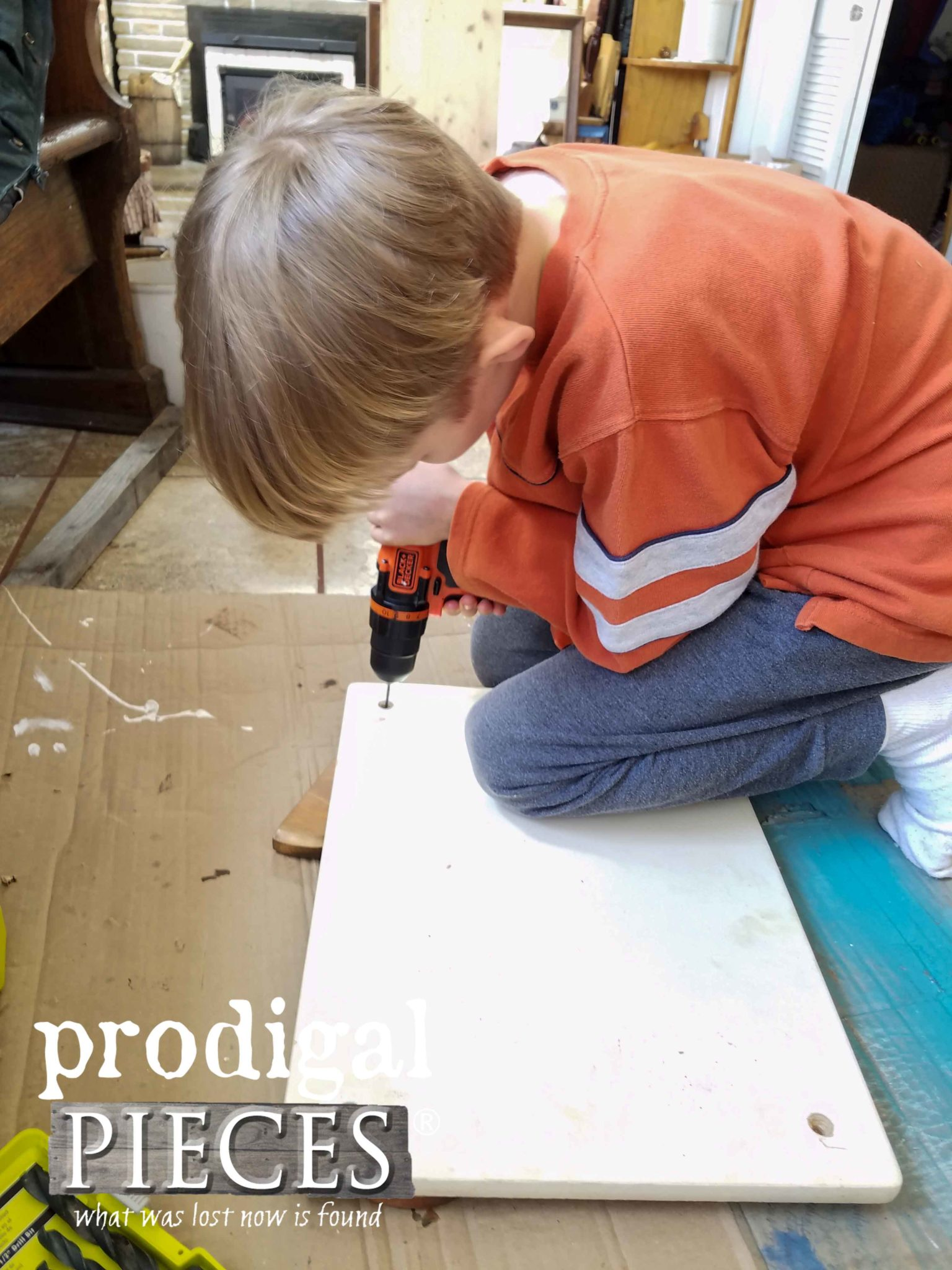 Boy Drilling DIY Tray | prodigalpieces.com