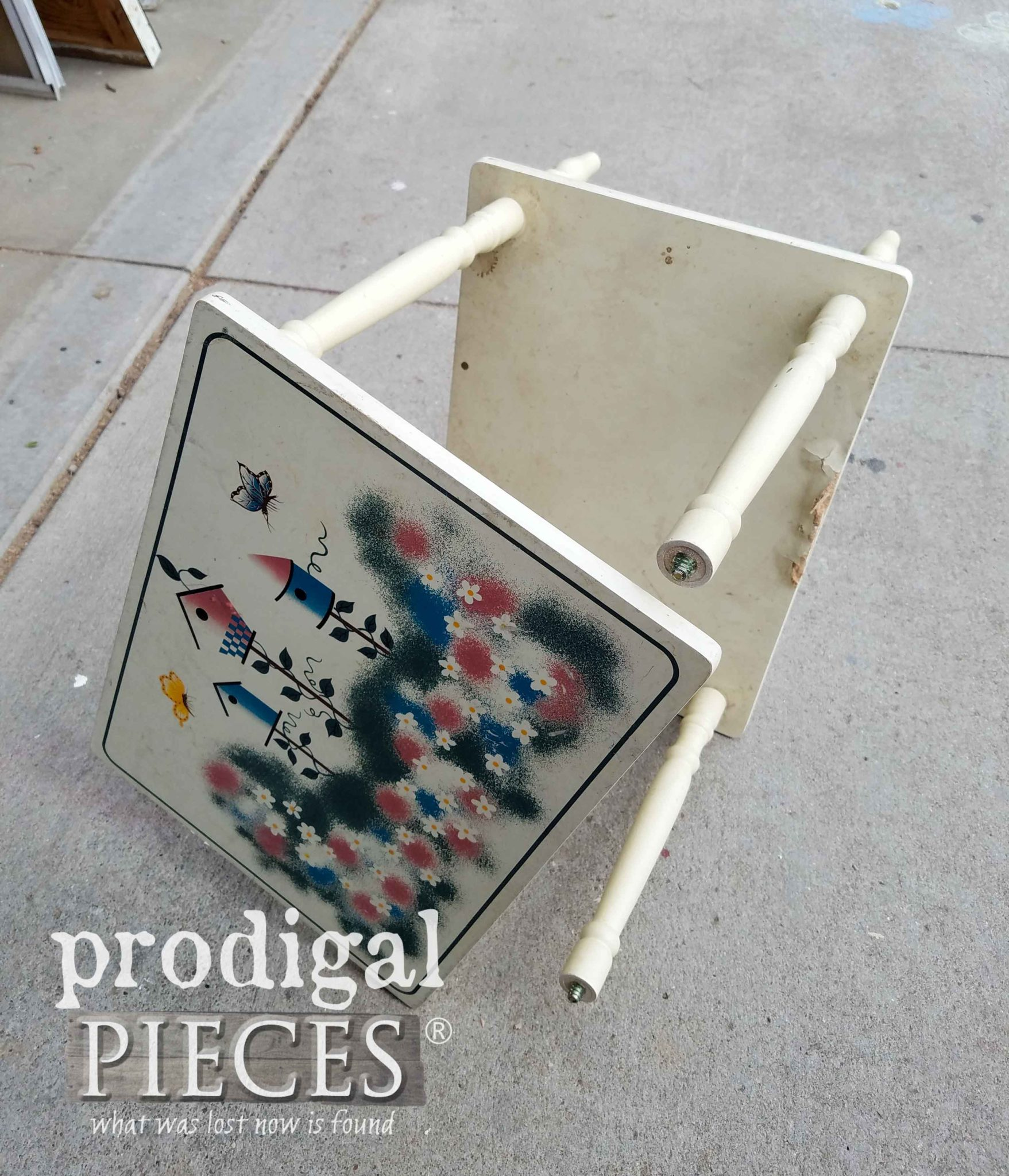 Curbside Table Before | Falling Apart | Prodigal Pieces | prodigalpieces.com
