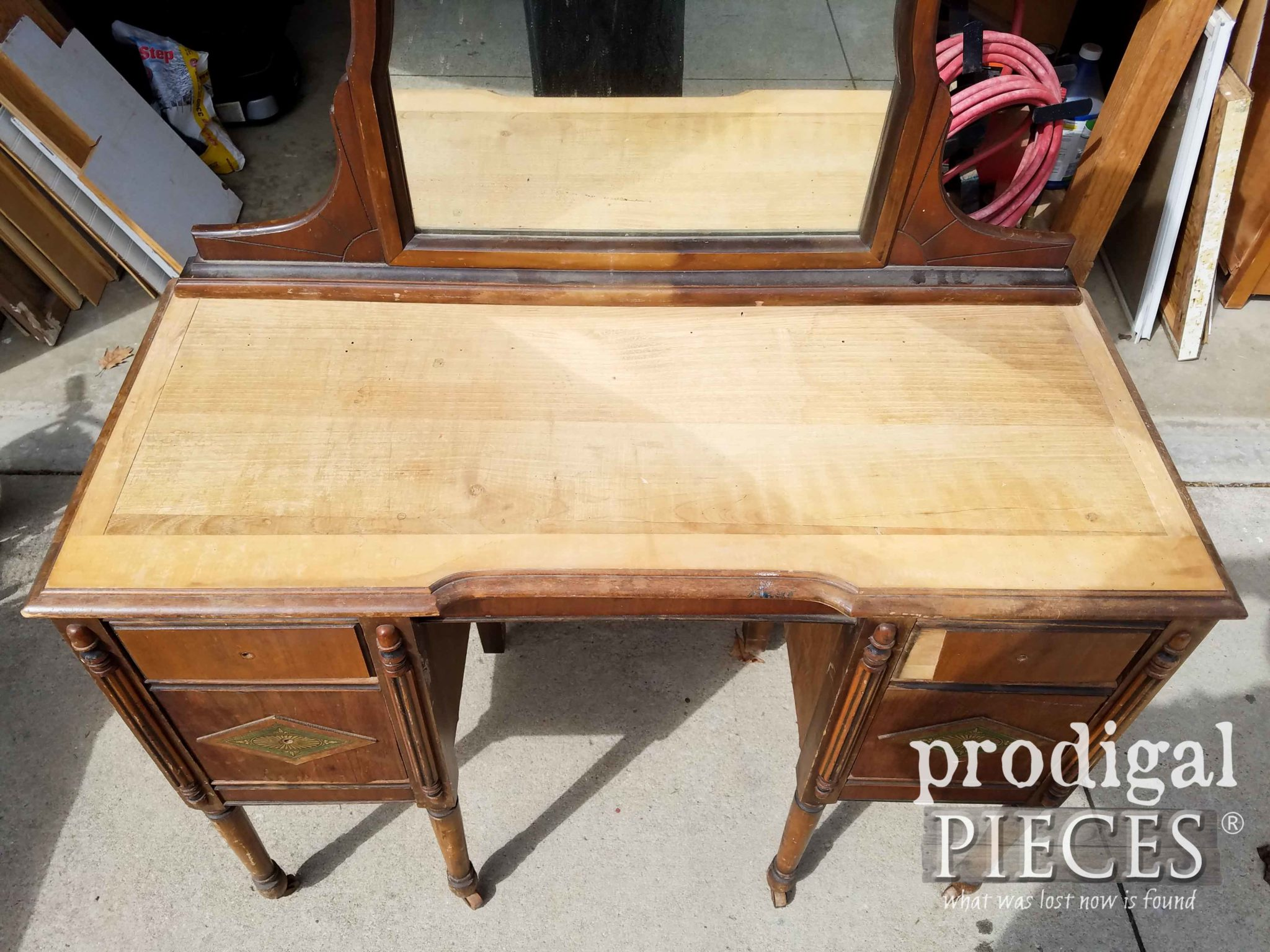 Damaged Antique Vanity Top | prodigalpieces.com
