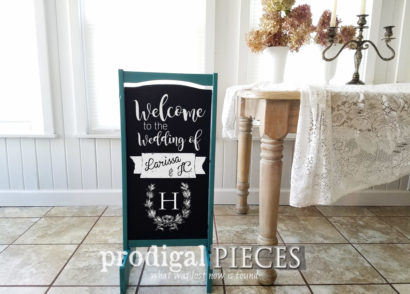 Featured Repurposed Upcycled Chalkboard Signs from Curbside Finds by Prodigal Pieces | prodigalpieces.com