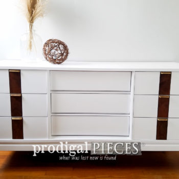 Featured Updated Vintage Mid Century Modern Dresser by Larissa of Prodigal Pieces | prodigalpieces.com