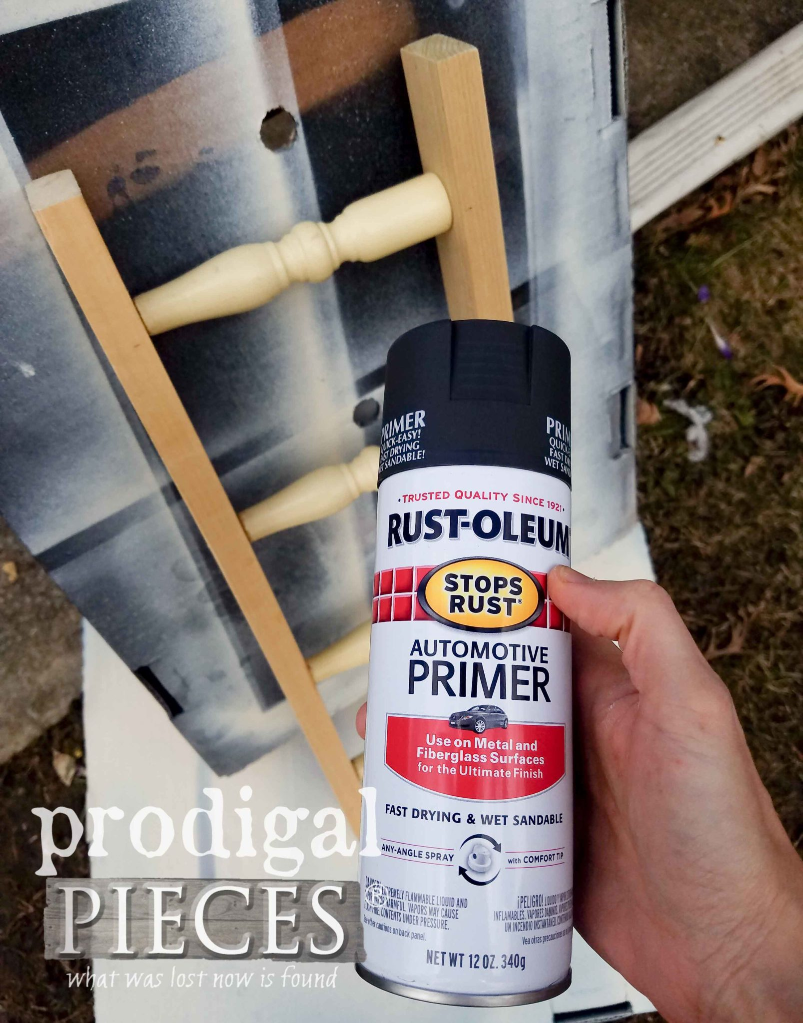 Flat Gray Spray Paint ~ Automotive Primer ~ for Farmhouse Decor | prodigalpieces.com