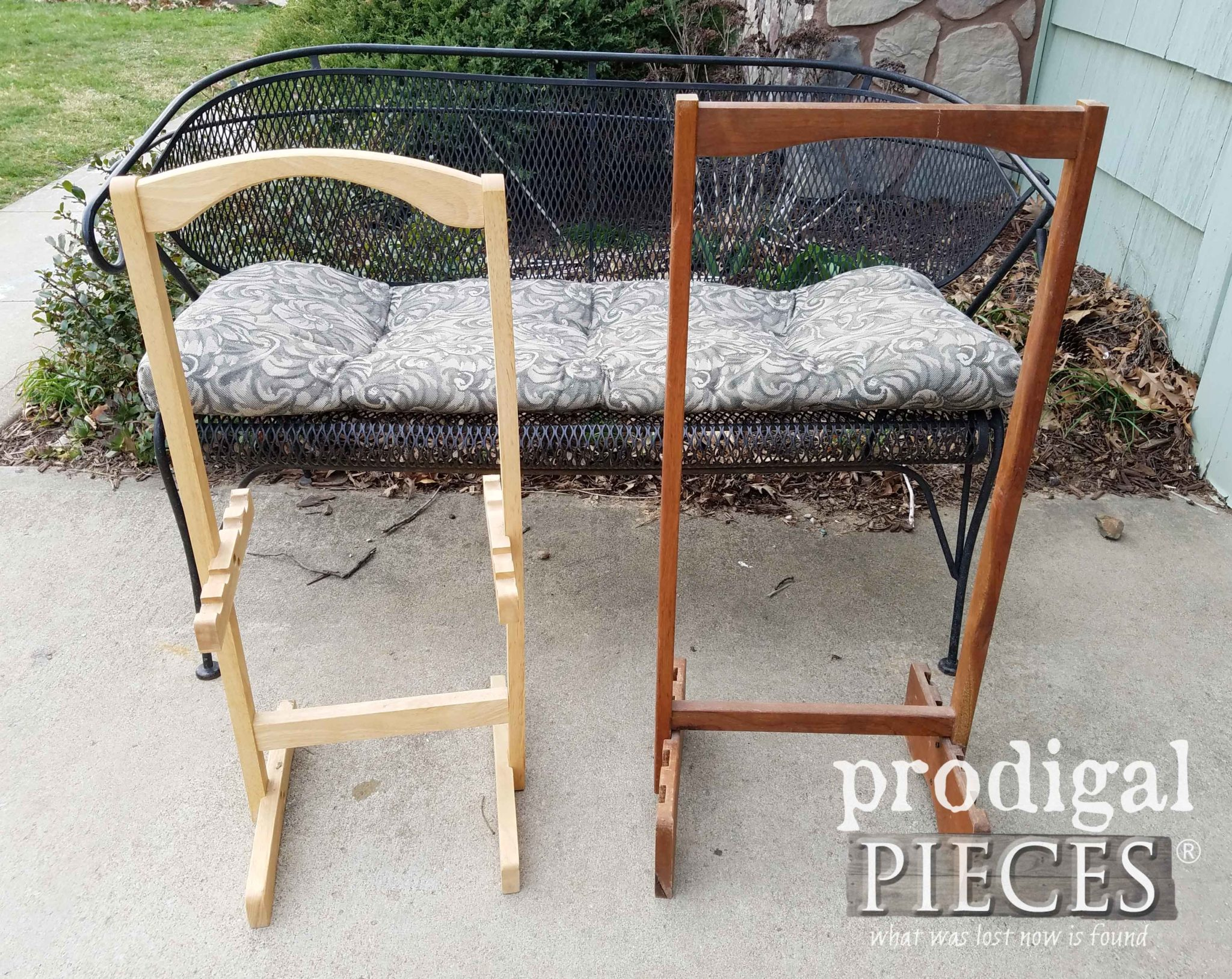 Wooden Stands Before Repurposed Makeover by Larissa of Prodigal Pieces | prodigalpieces.com