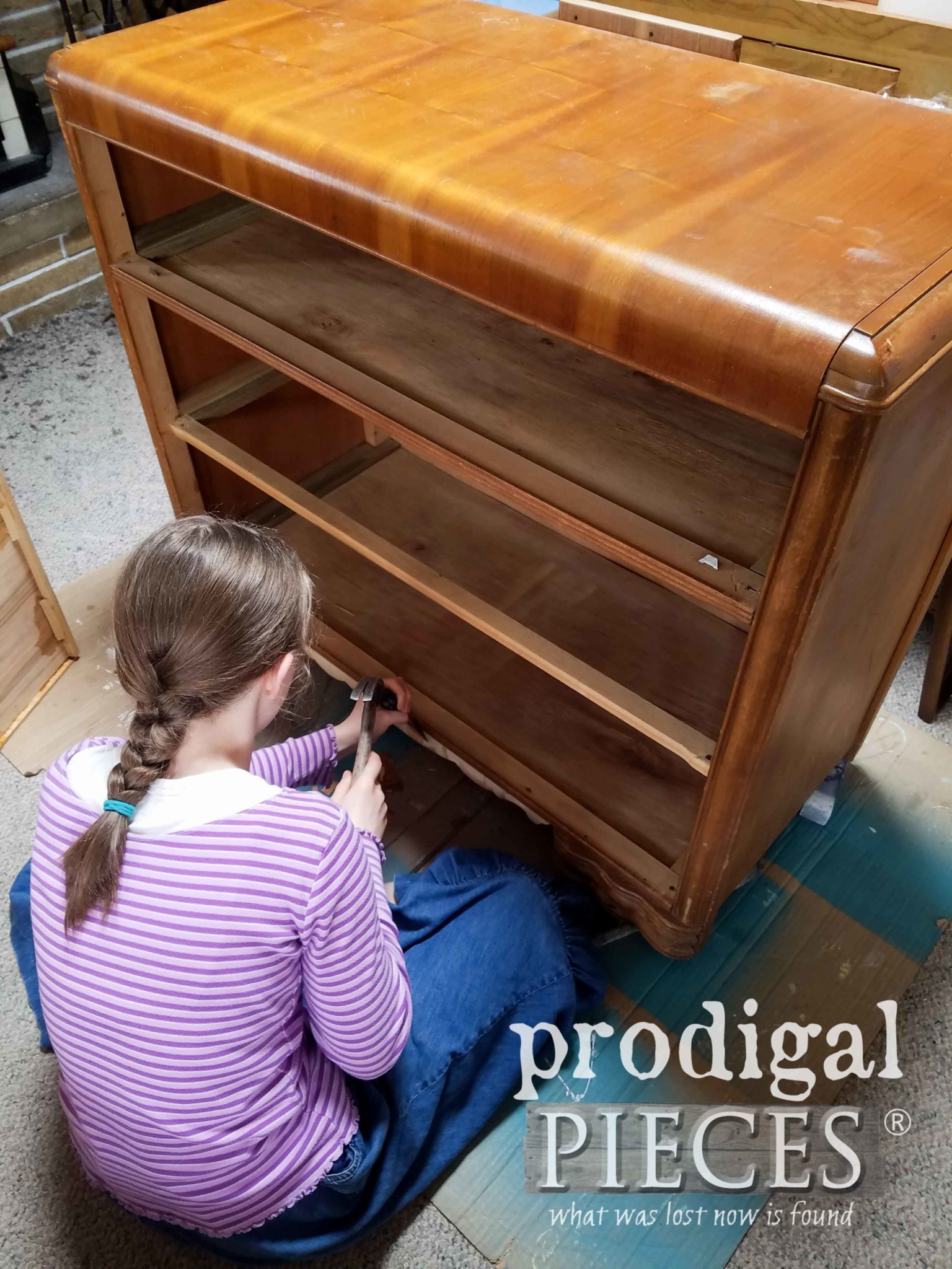 Art Deco Waterfall Dresser Refreshed Prodigal Pieces