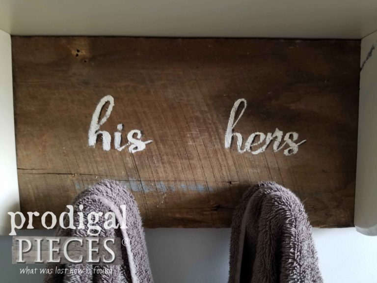 His and Hers Towel Rack with Reclaimed Barn Wood by Prodigal Pieces | prodigalpieces.com