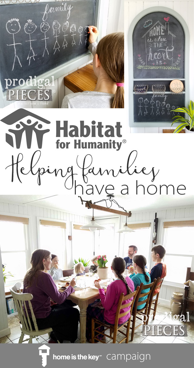 "Join me and my family as we support the Habitat for Humanity campaign ~ ""Home is the Key"". The affordable housing crisis is real and we can do our part to help. Details at Prodigal Pieces 