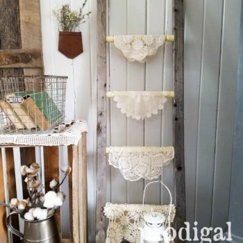 Reclaimed Farmhouse Wooden Ladder Made from Upcycled Parts by Prodigal Pieces | prodigalpieces.com