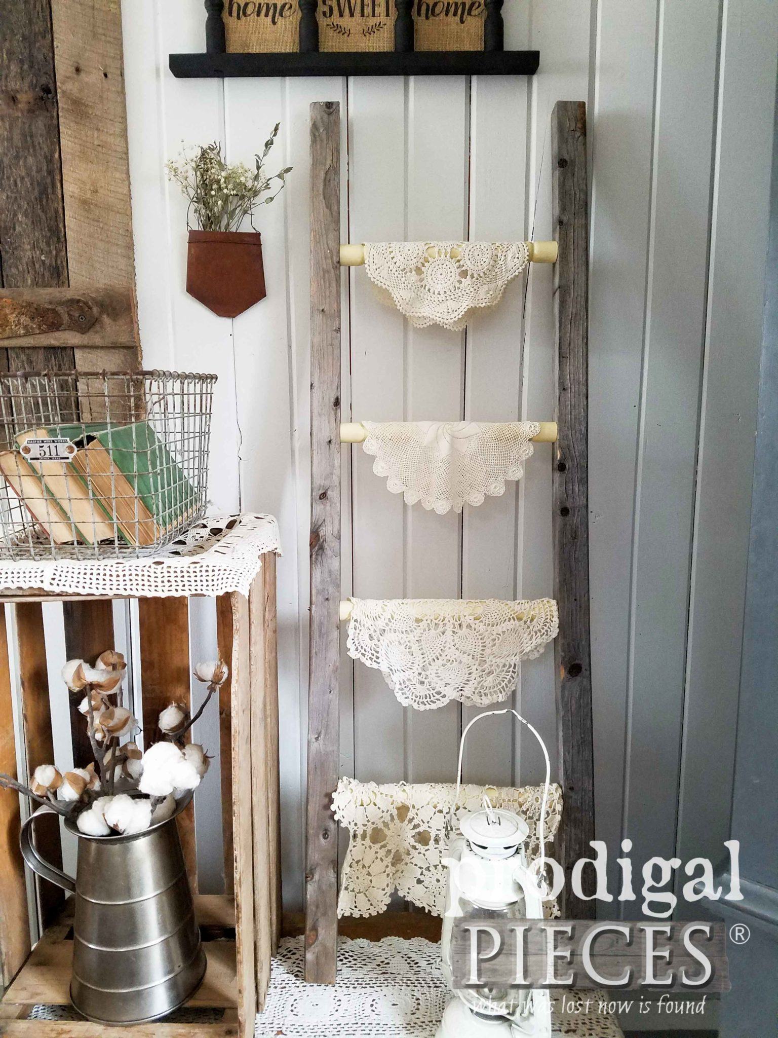 Reclaimed Farmhouse Ladder Made from Upcycled Parts by Prodigal Pieces | prodigalpieces.com