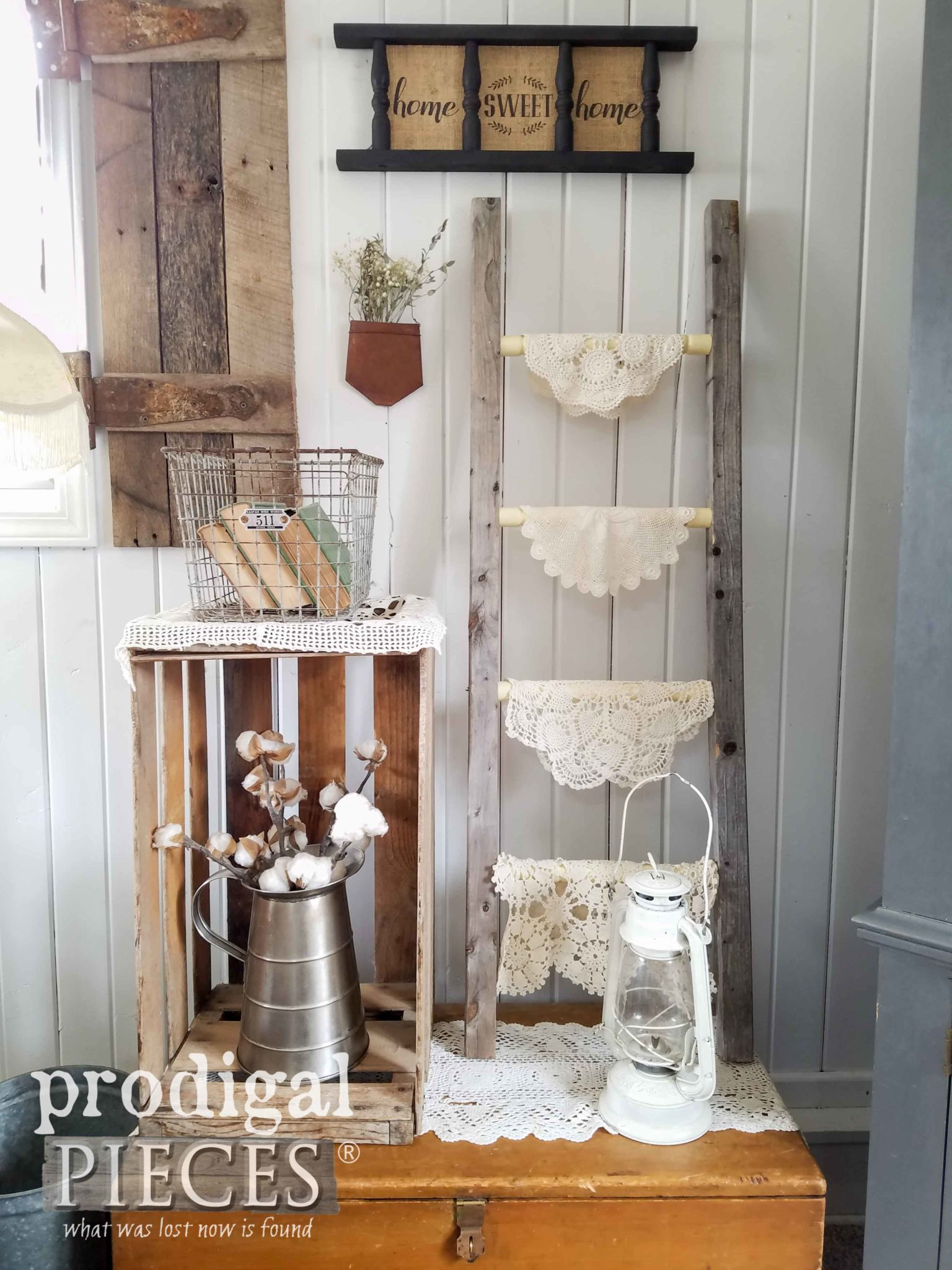 Repurposed Farmhouse Home Decor from curbside #trashure finds by Larissa & Son of Prodigal Pieces | prodigalpieces.com