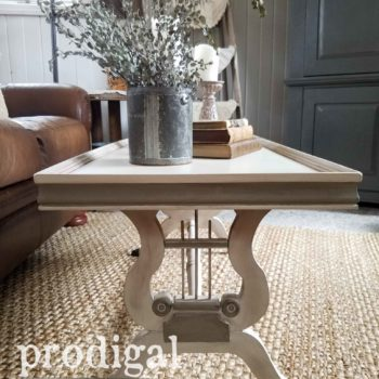 Restored Antique Lyre Coffee Table with Claw Feet by Larissa of Prodigal Pieces | prodigalpieces.com