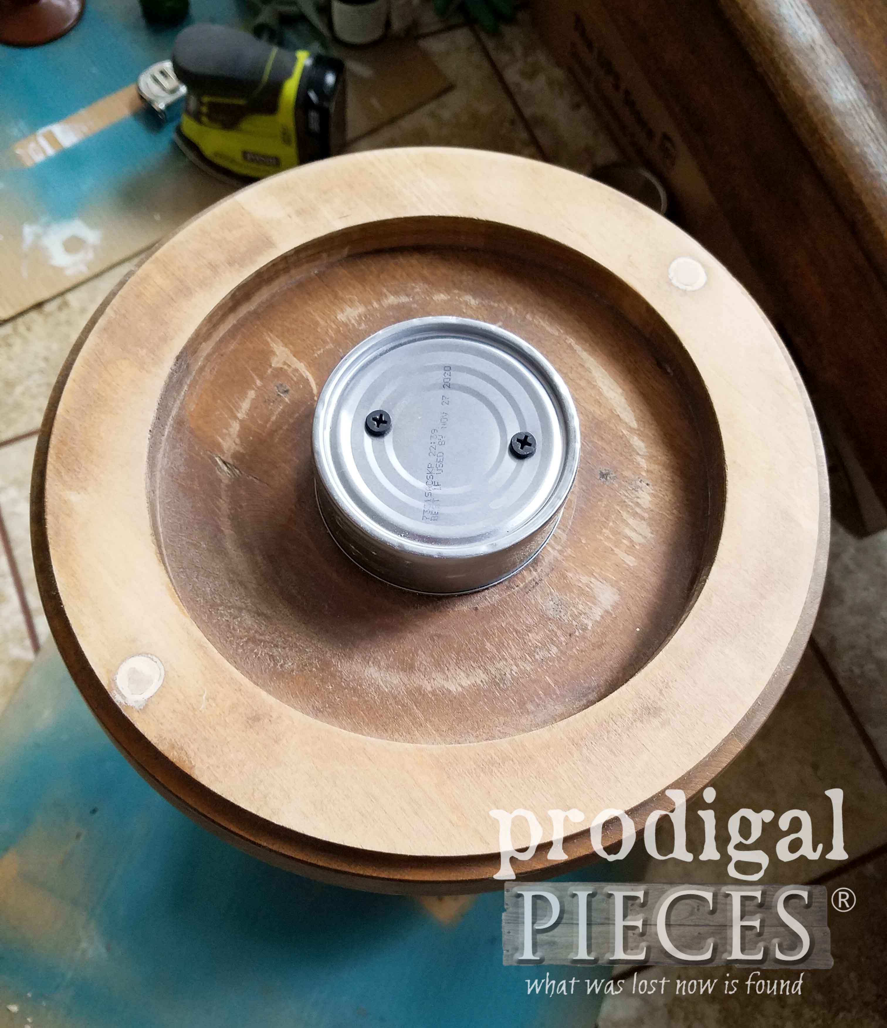 Retrofit Ashtray with Recycled Parts for Plant Stand by Larissa of Prodigal Pieces | prodigalpieces.com