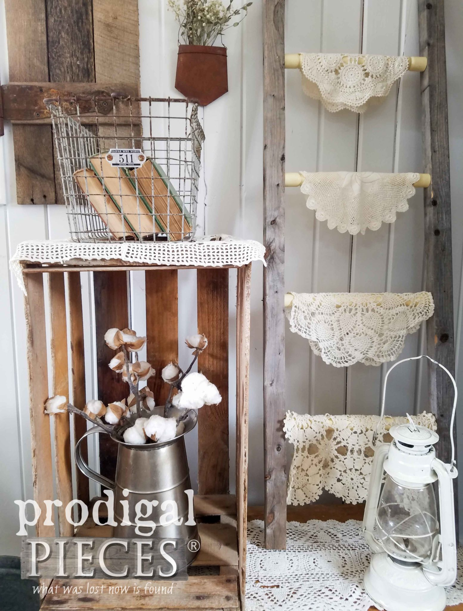 Rustic Farmhouse Decor Made from Repurposed Trash by Larissa of Prodigal Pieces | prodigalpieces.com
