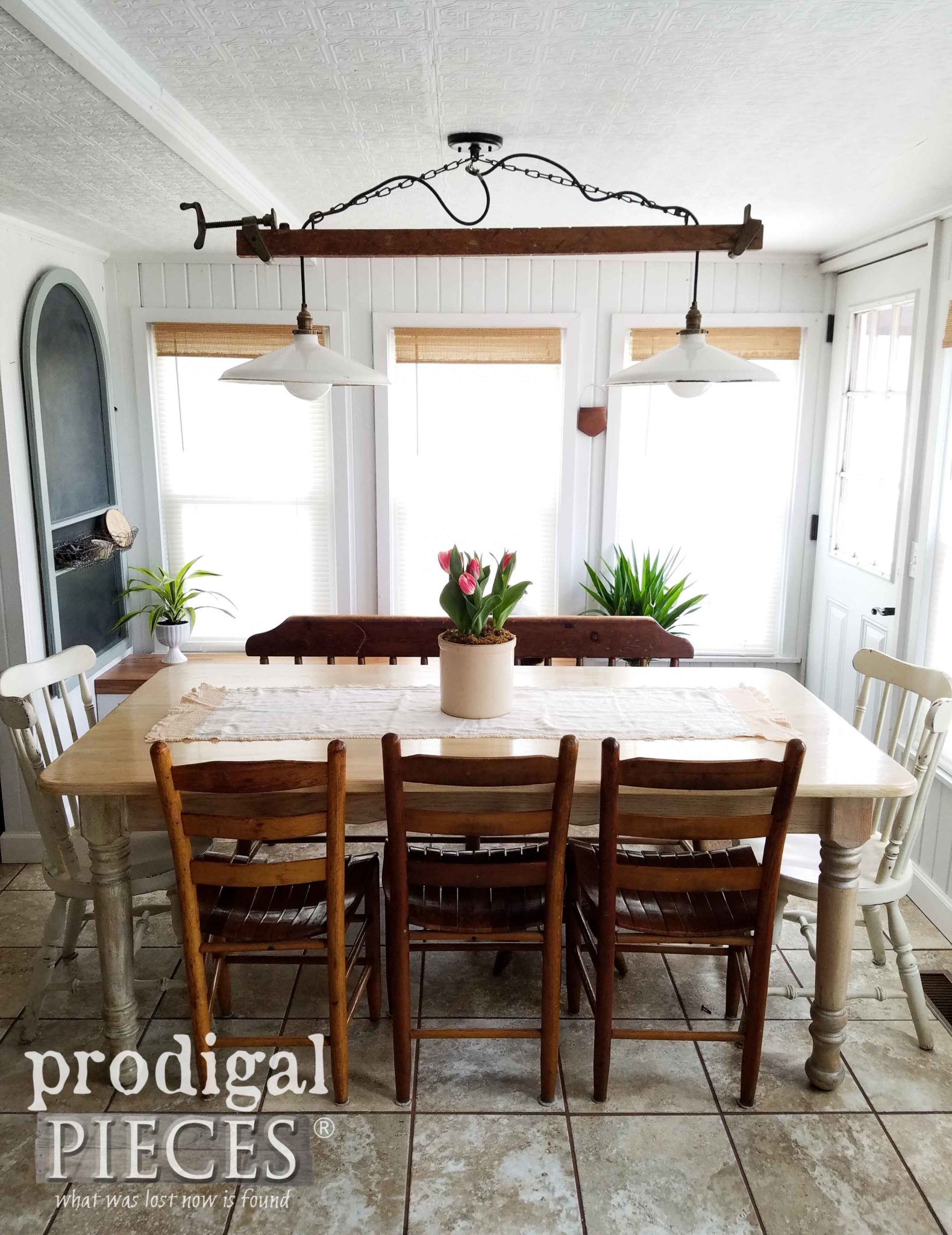 Rustic Farmhouse Dining Table by Larissa of Prodigal Pieces | prodigalpieces.com