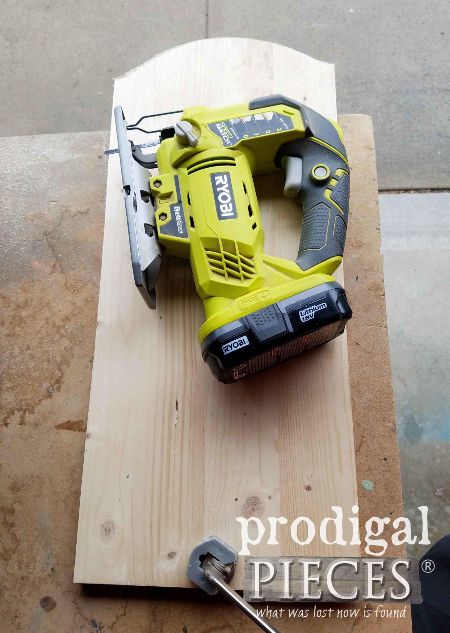 Using Ryobi Jigsaw to Cut Wood for Chalkboards | Prodigal Pieces | prodigalpieces.com