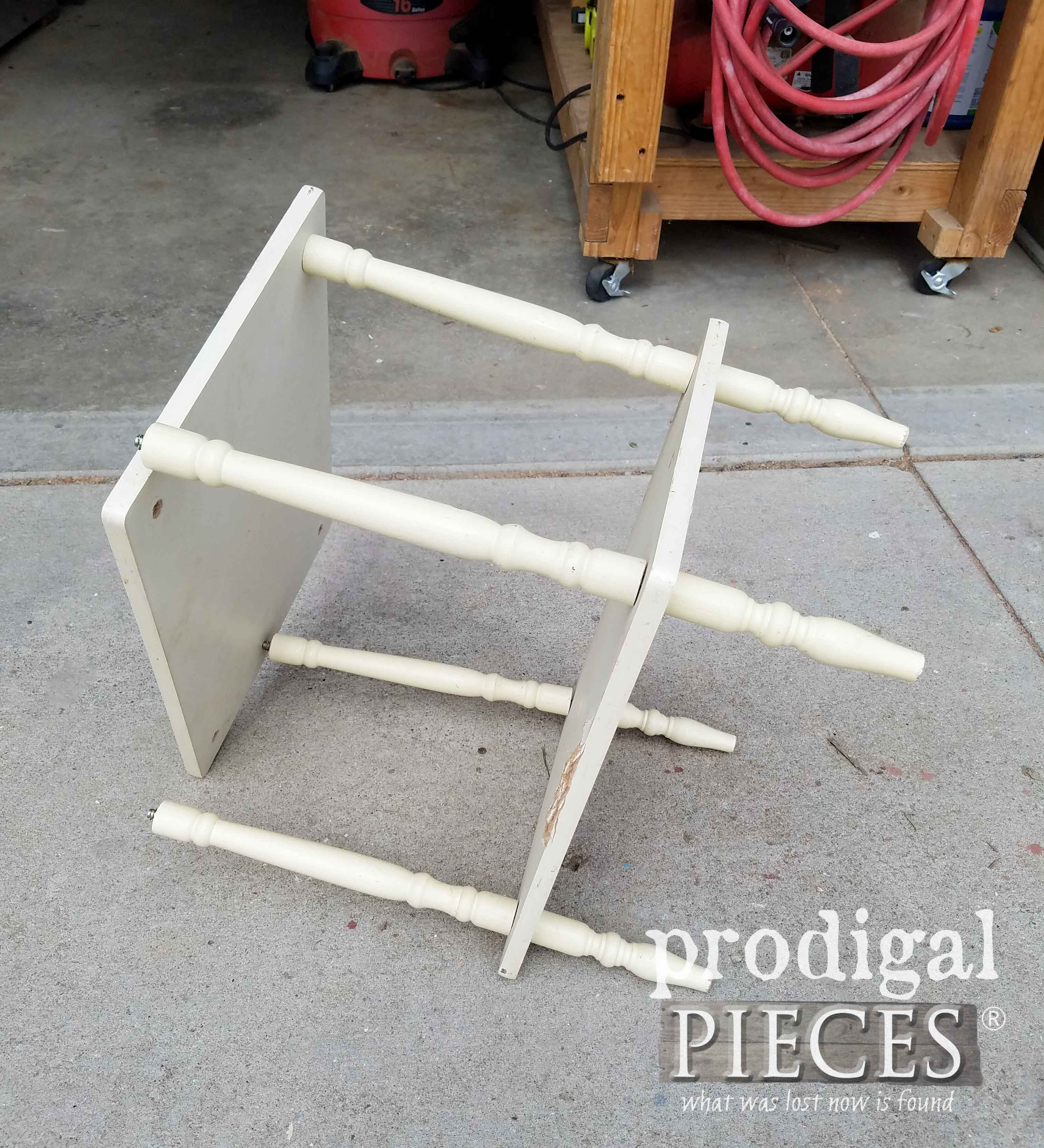 Broken Side Table for Repurposed Home Decor | prodigalpieces.com