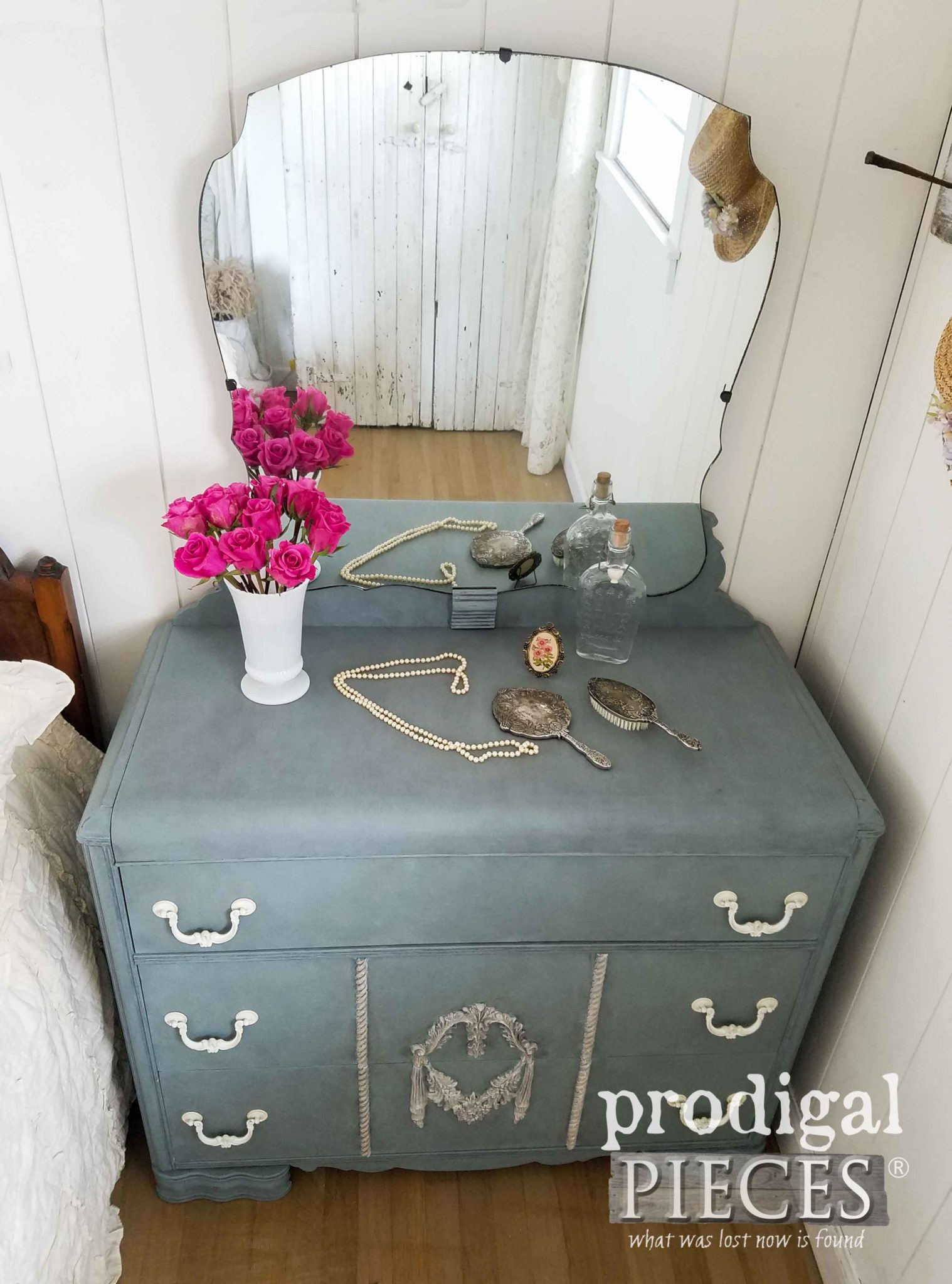 Vintage Waterfall Dresser Gets Fresh New Look with Dixie Belle Chalk Mineral Paint by Prodigal Pieces | prodigalpieces.com