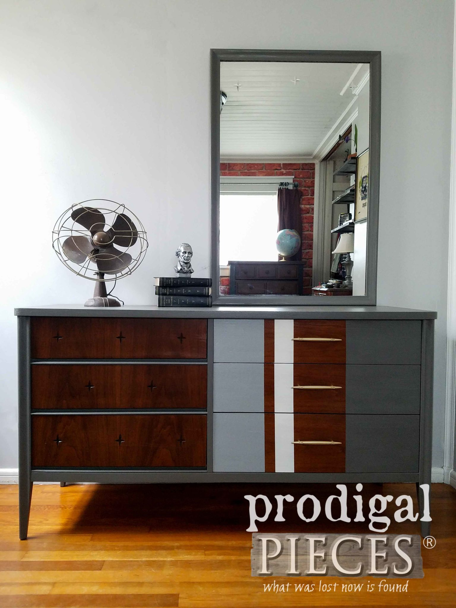 Vintage Broyhill Saga Dresser Updated with Dixie Belle Paint for a Modern Chic Look by Prodigal Pieces | prodigalpieces.com