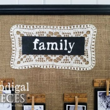 Handmade Vintage Family Photo Sign | prodigalpieces.com