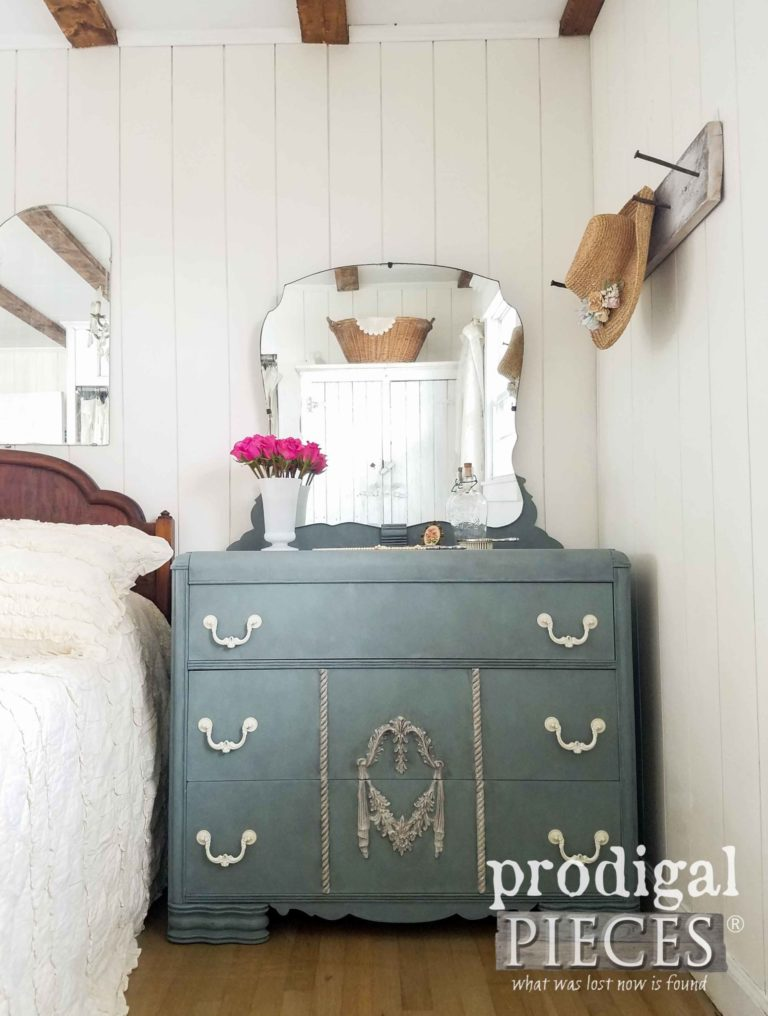 Vintage Waterfall Mirrored Dresser by Prodigal Pieces | prodigalpieces.com