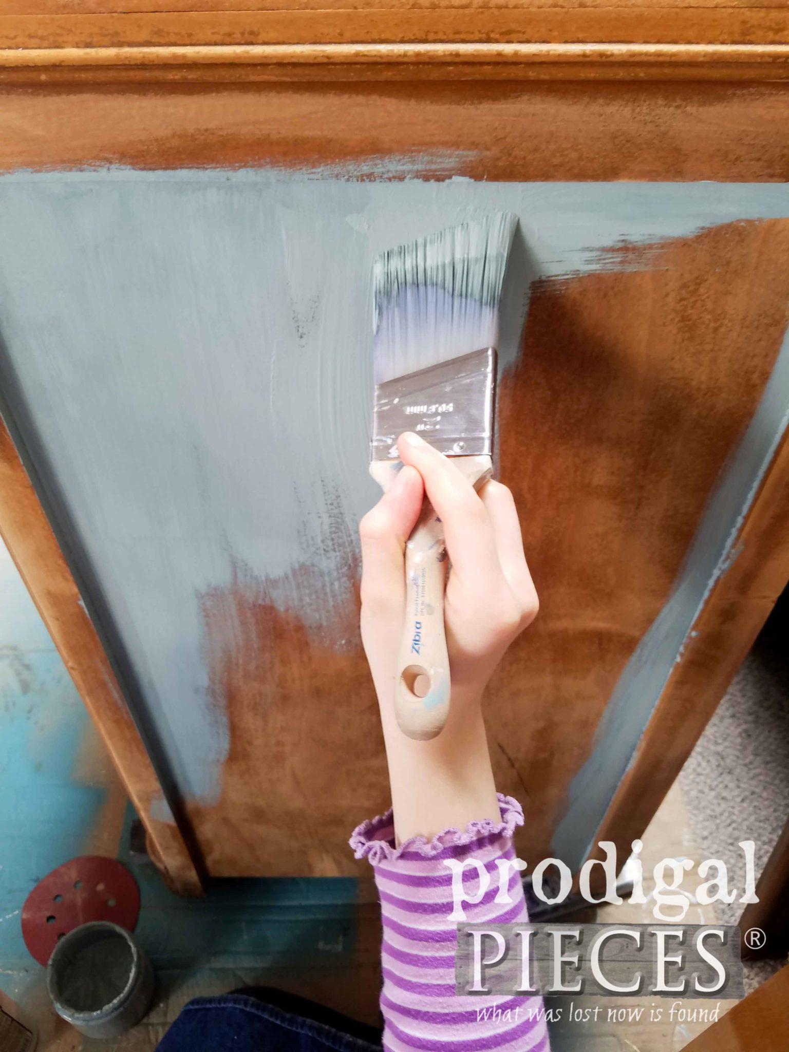 Zibra Stubby Brush Used by Tween to Remake a Vintage Dresser | Prodigal Pieces | prodigalpieces.com
