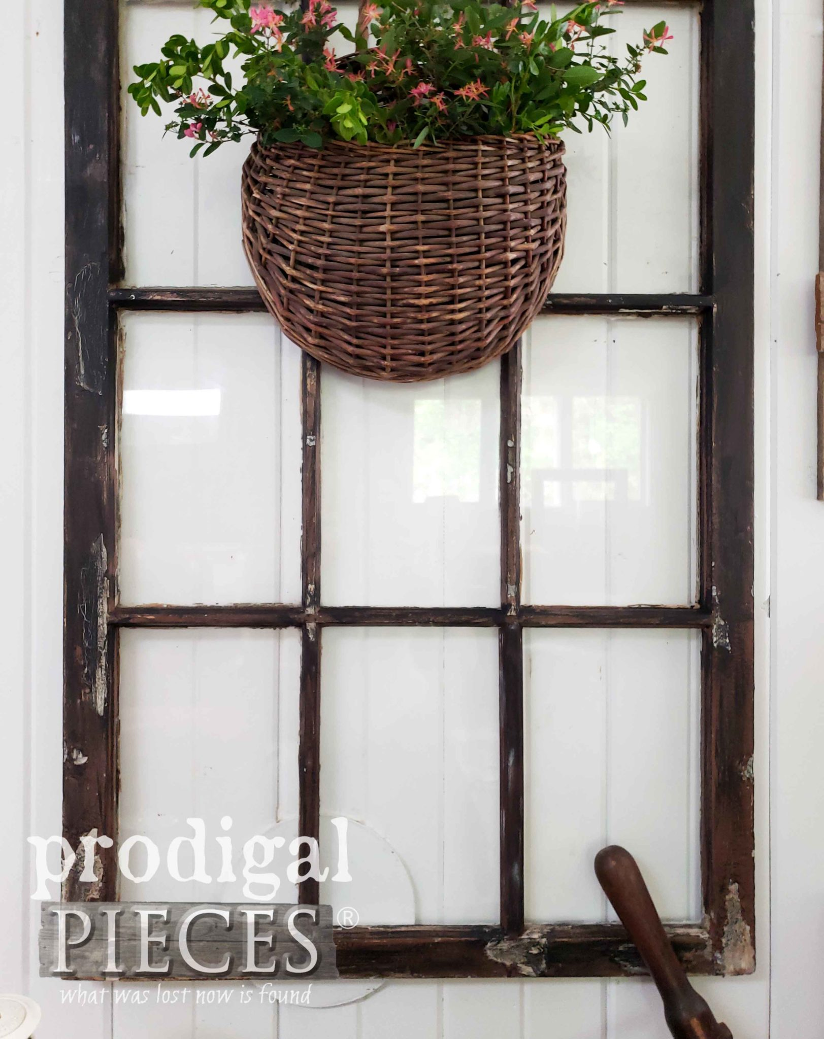 Antique Arched Window Repaired and Restored by Larissa of Prodigal Pieces | prodigalpieces.com