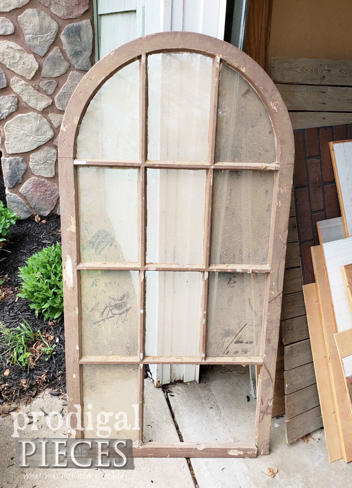 Arched Window in it's Broken Before State | prodigalpieces.com