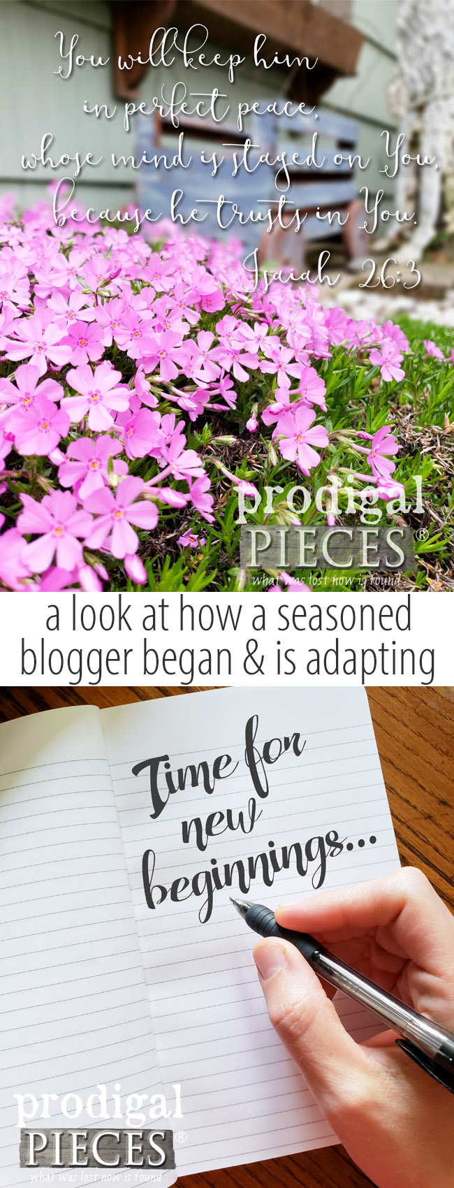 Take a peek at how a seasoned blogger got started and is adapting to new beginnings by Larissa of Prodigal Pieces | prodigalpieces.com