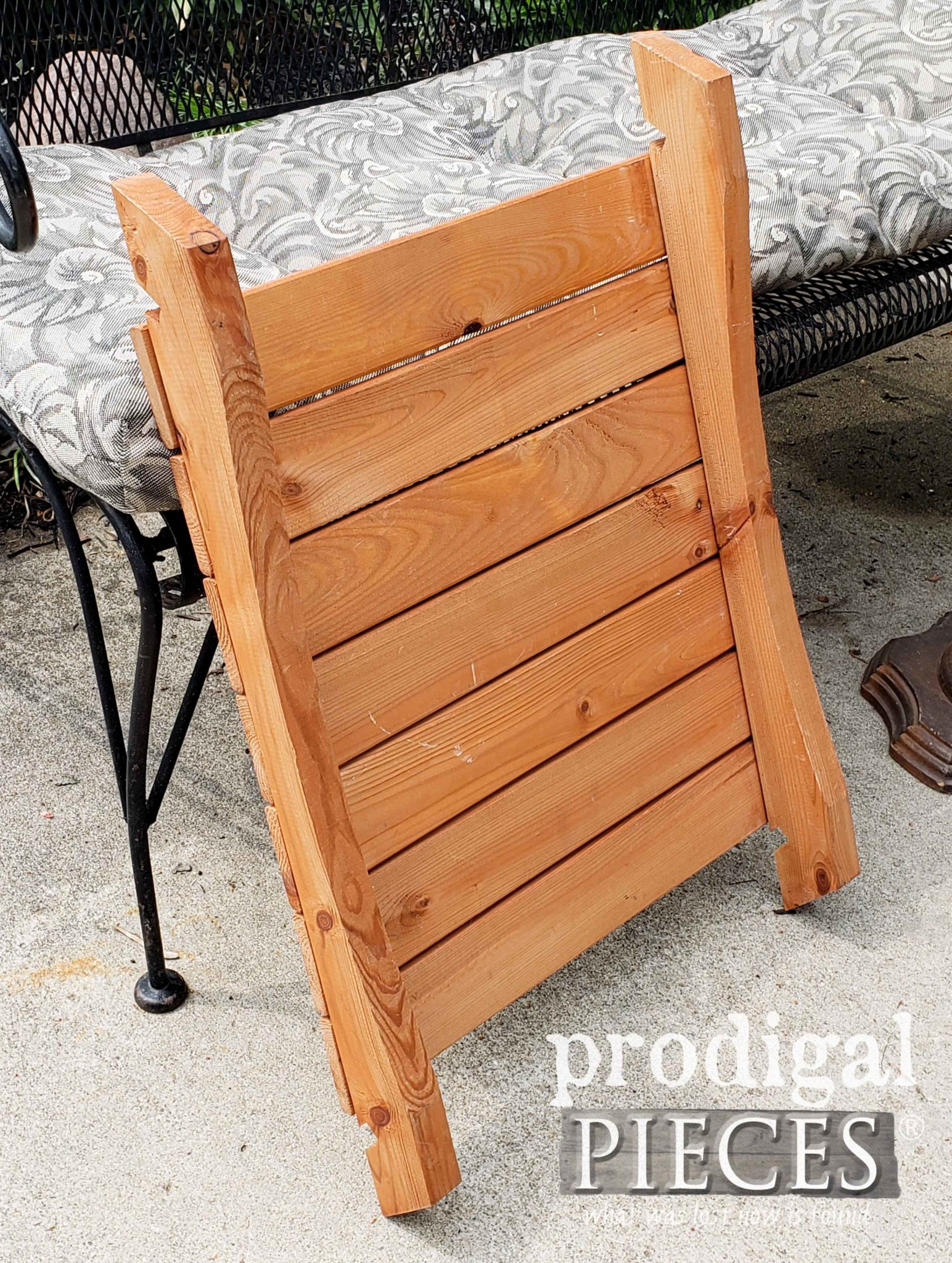 Piece of Chair Part for Upcycled Farmhouse Decor by Larissa of Prodigal Pieces | prodigalpieces.com