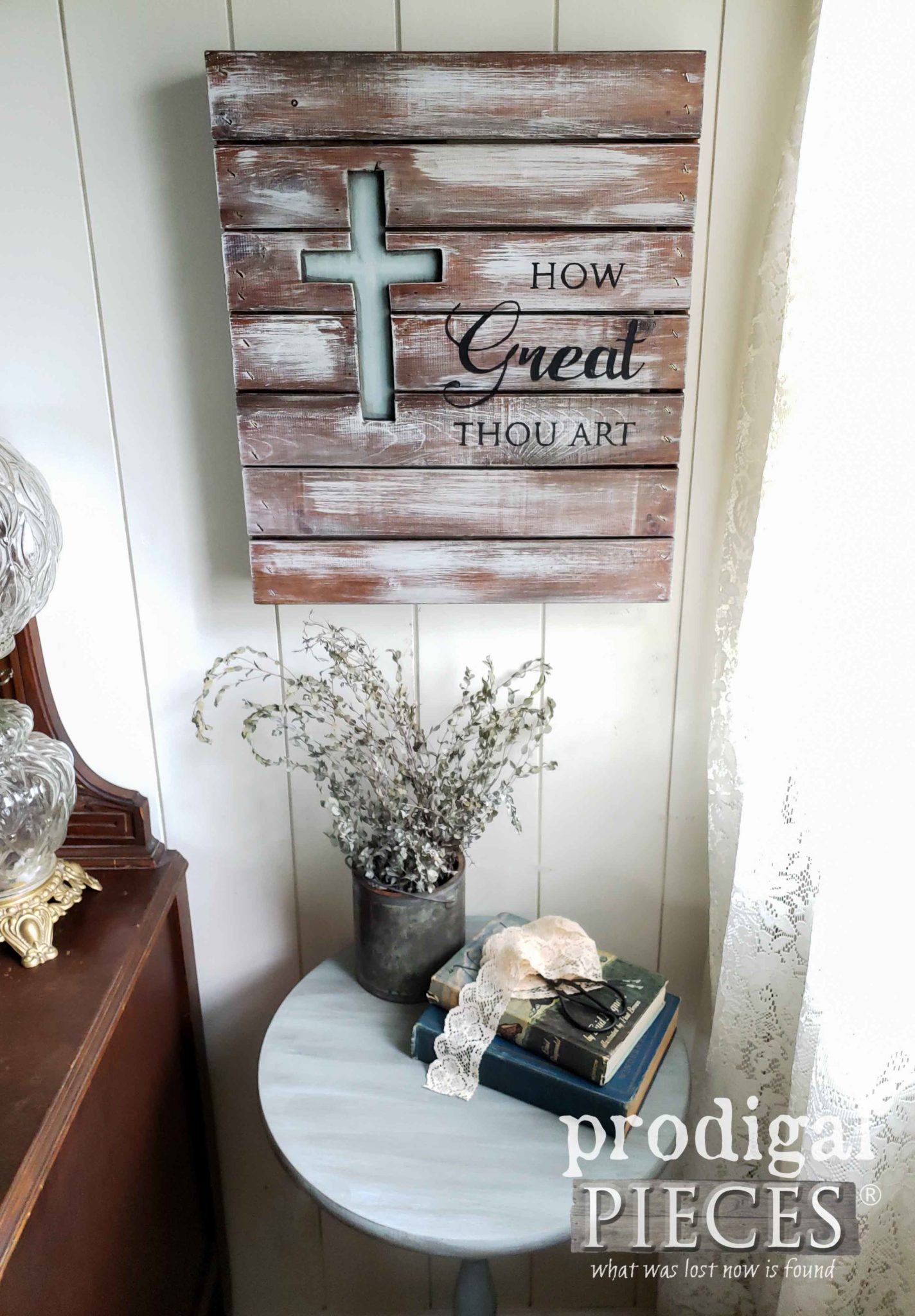 Create Your Own DIY Farmhouse Decor from Thrifted Finds with Inspiration by Larissa of Prodigal Pieces | prodigalpieces.com