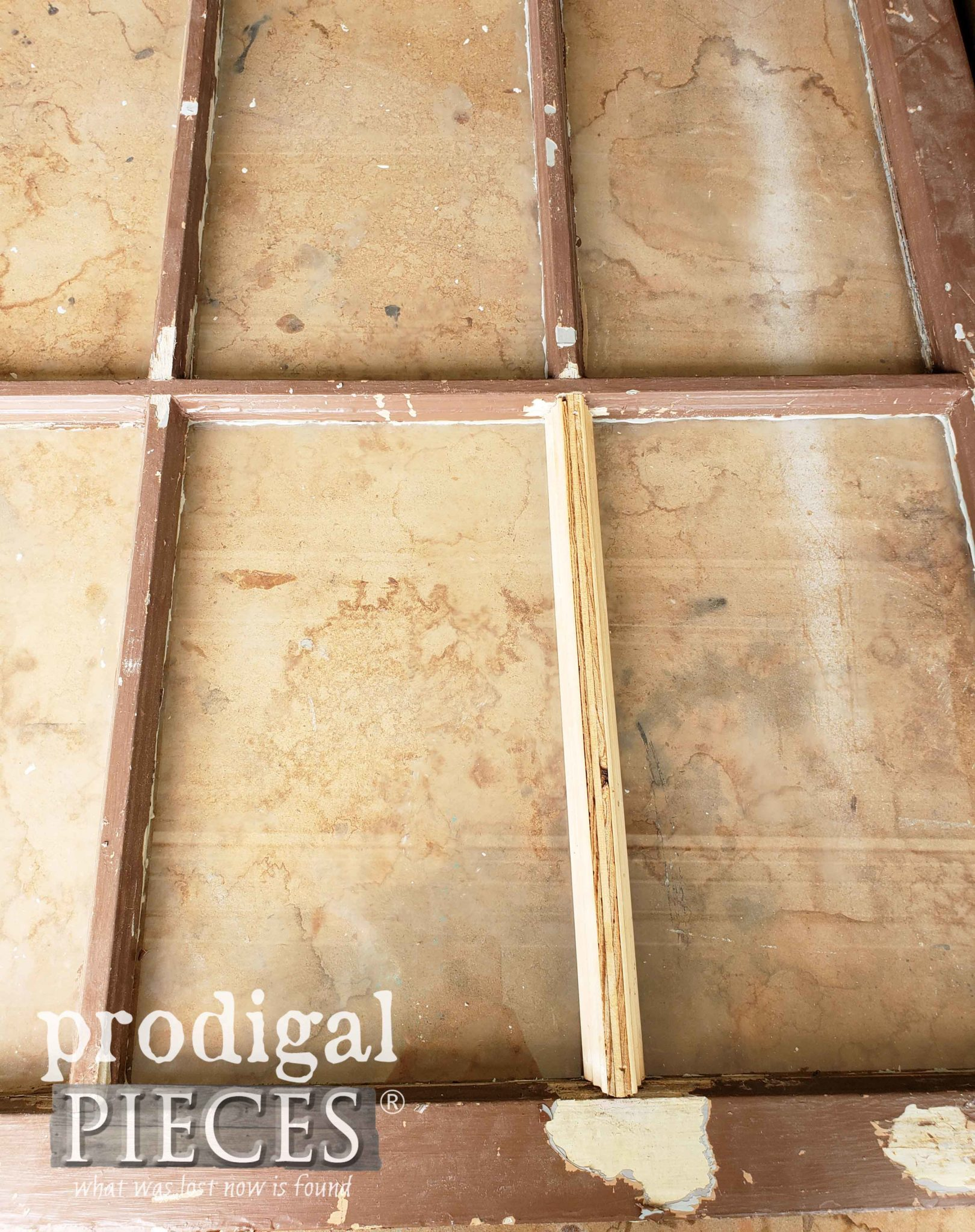 DIY Repaired Mullion with a Few Tips by Larissa of Prodigal Pieces | prodigalpieces.com