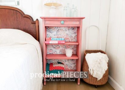 Featured Updated Bookcase with Paint and Paper by Larissa of Prodigal Pieces | prodigalpieces.com