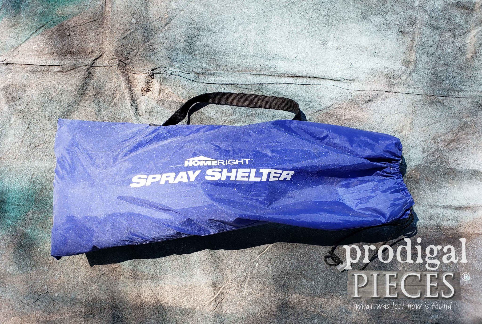 Bagged HomeRight Large Spray Shelter for DIY fun | prodigalpieces.com