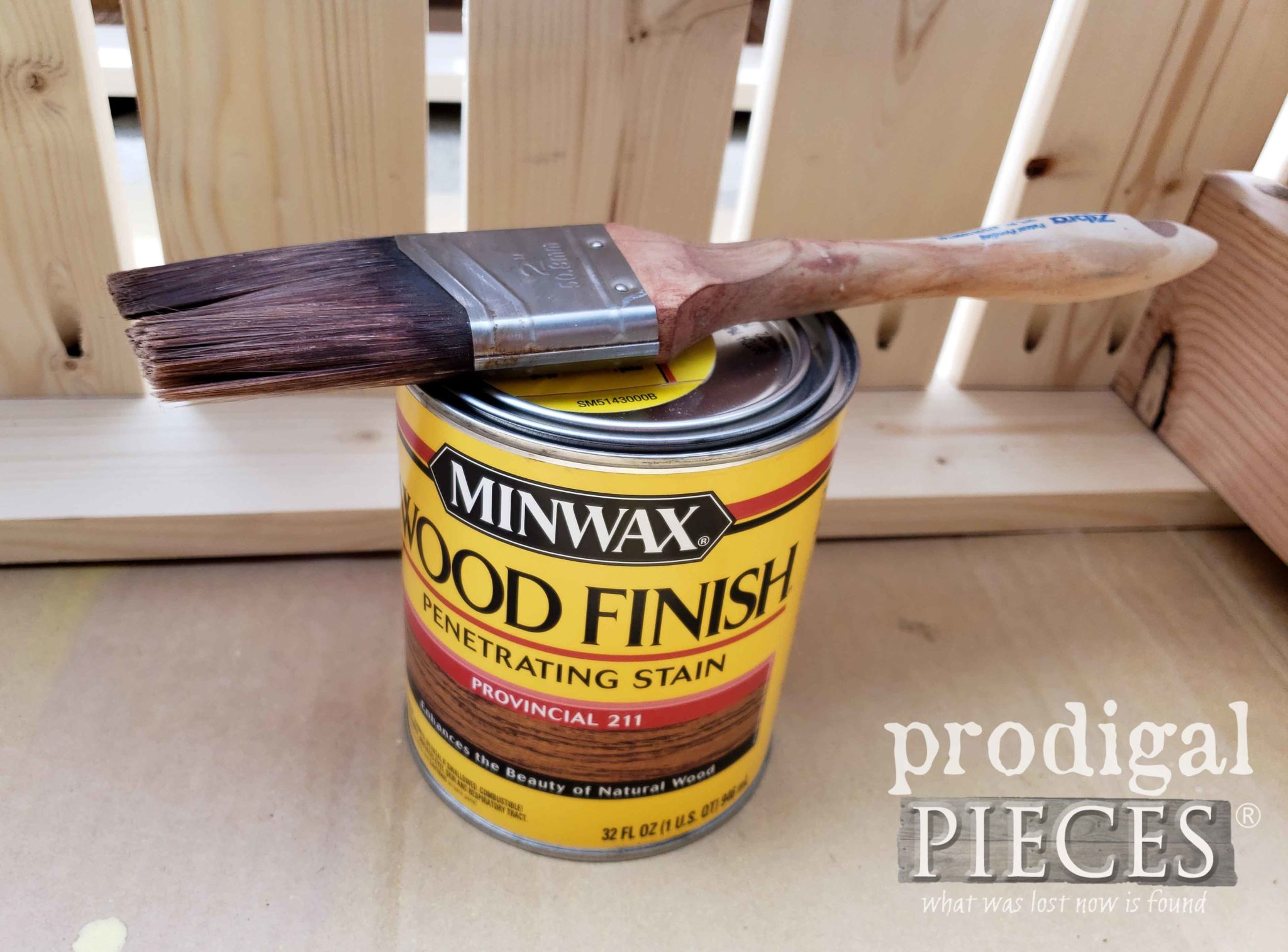 Minwax Provincial Stain for Reclaimed Workbench built by Larissa of Prodigal Pieces | prodigalpieces.com