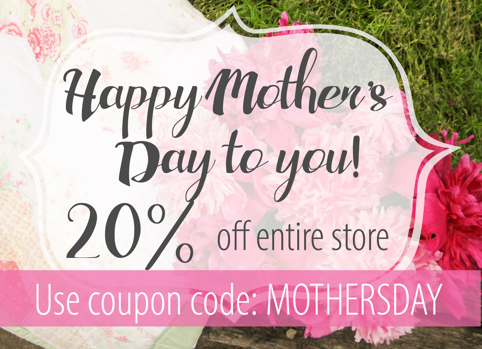 Get 20% off Prodigal Pieces Store to Celebrate Mother's Day at prodigalpieces.com