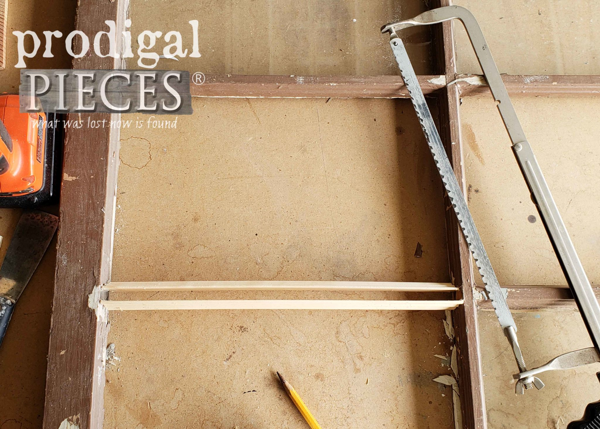 Repairing Antique Window Mullion with Scrap Trim by Prodigal Pieces | prodigalpeices.com